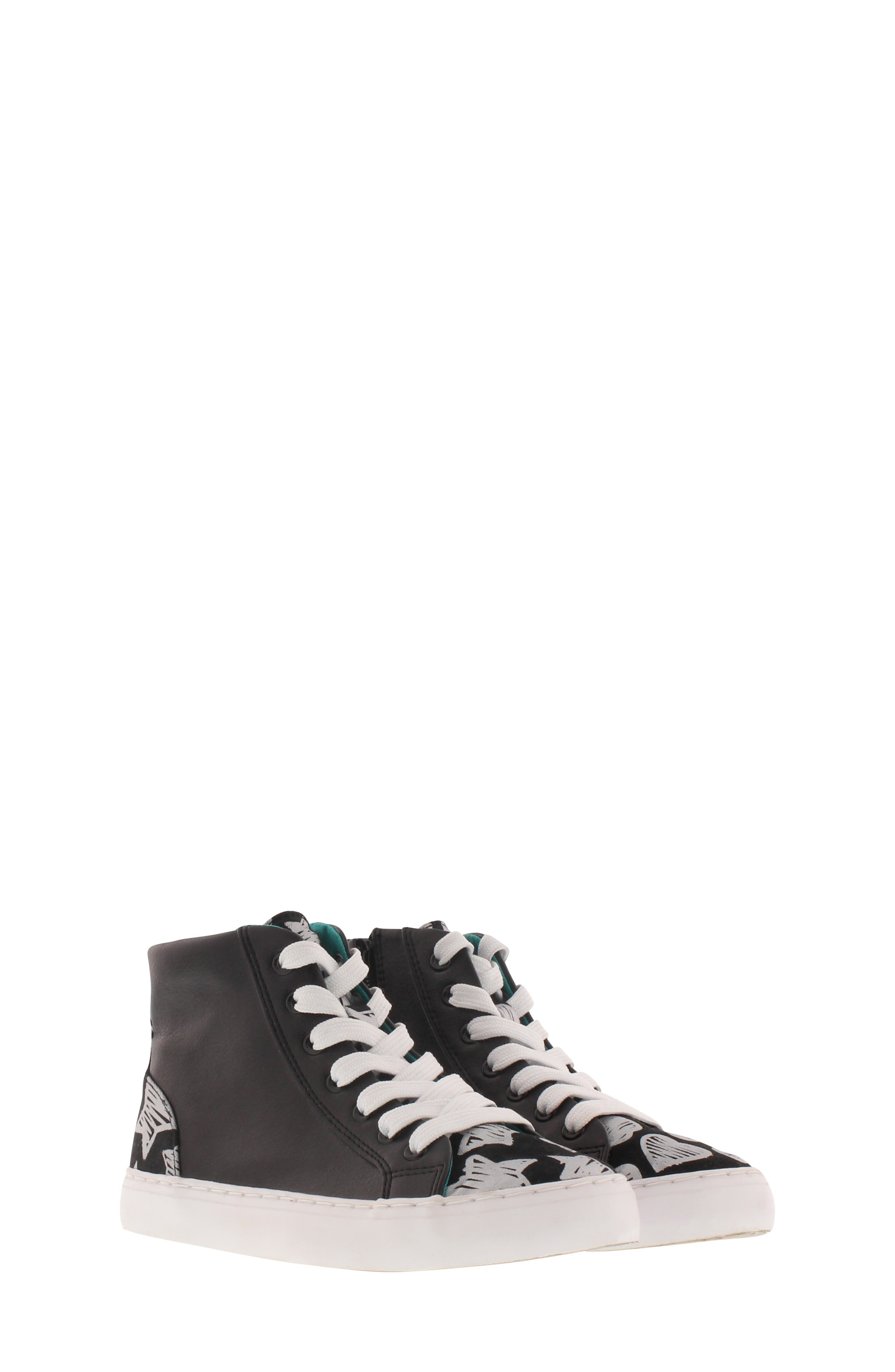 CHOOZE, Uplift Superstar High Top Sneaker, Main thumbnail 1, color, BLACK