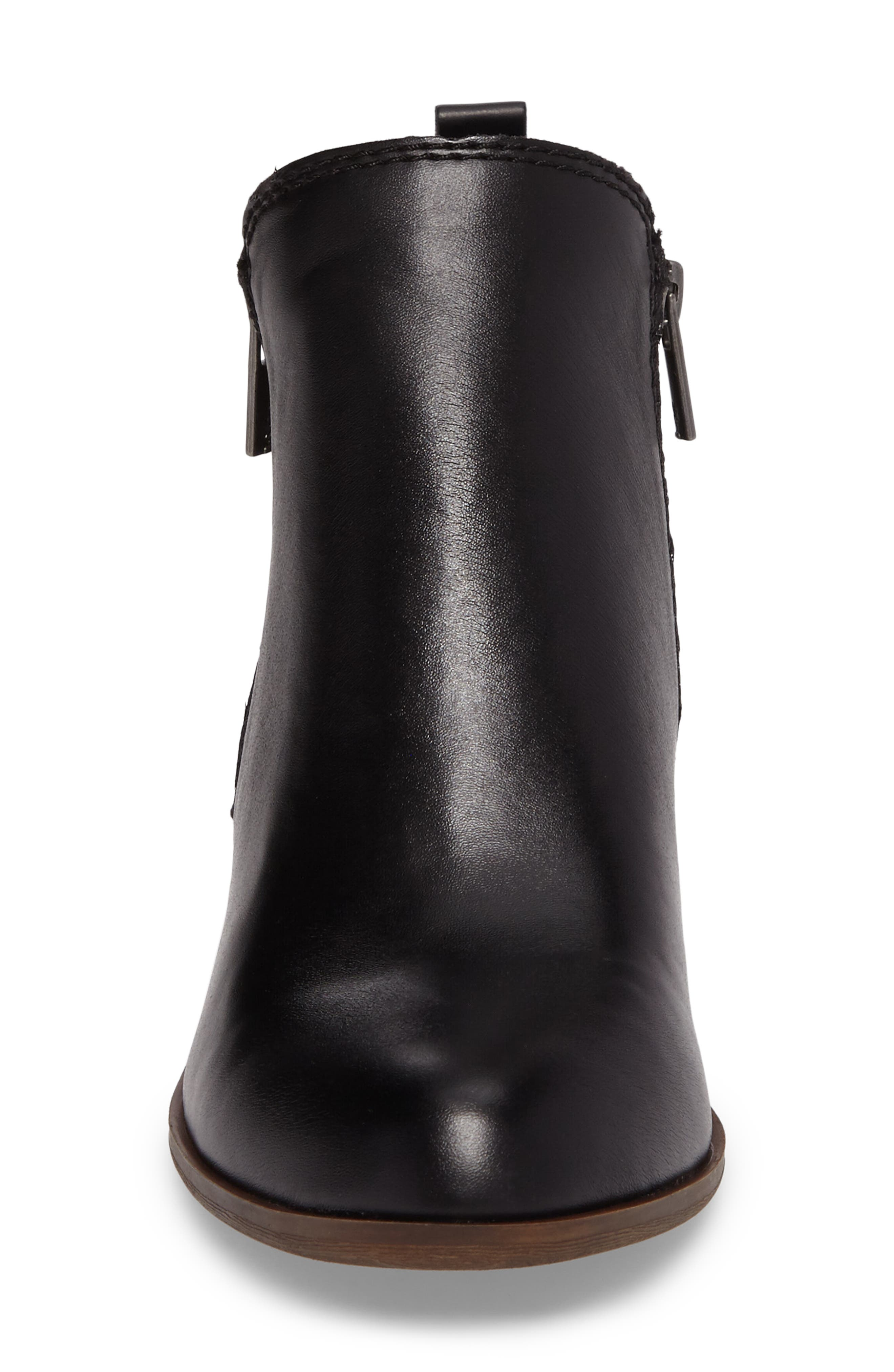 LUCKY BRAND, Basel Double-Zip Bootie, Alternate thumbnail 4, color, 001