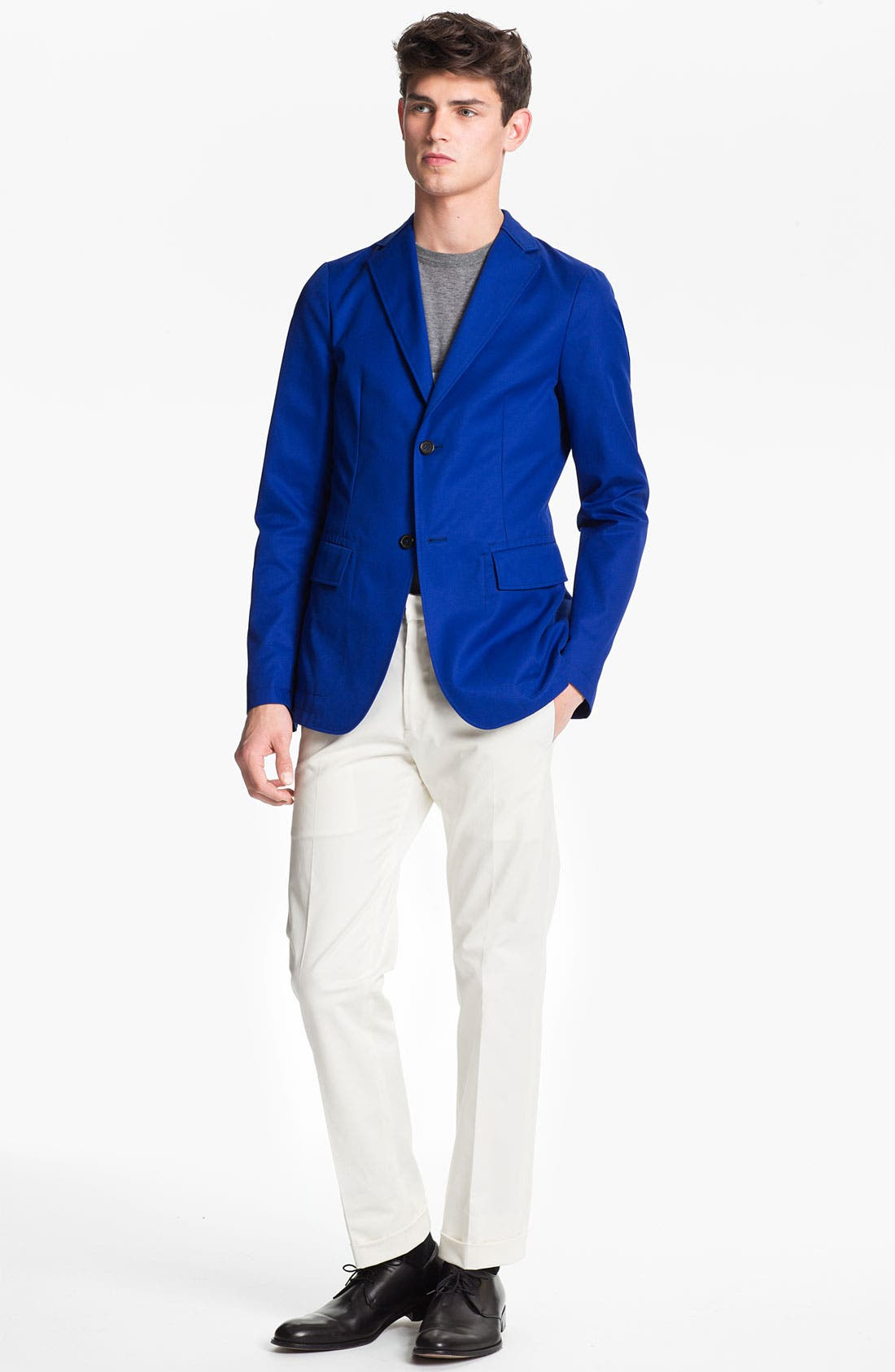 JIL SANDER, Blazer, Alternate thumbnail 4, color, 432