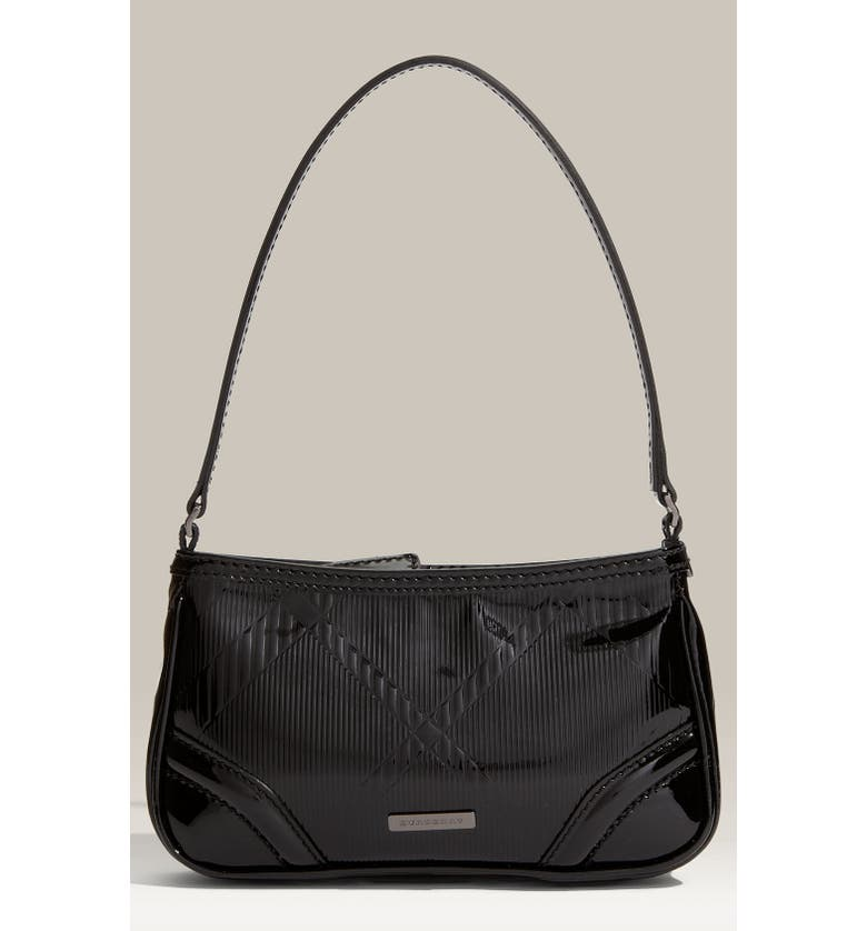 f3505ddc1228 Burberry Check Embossed Patent Leather Shoulder Bag
