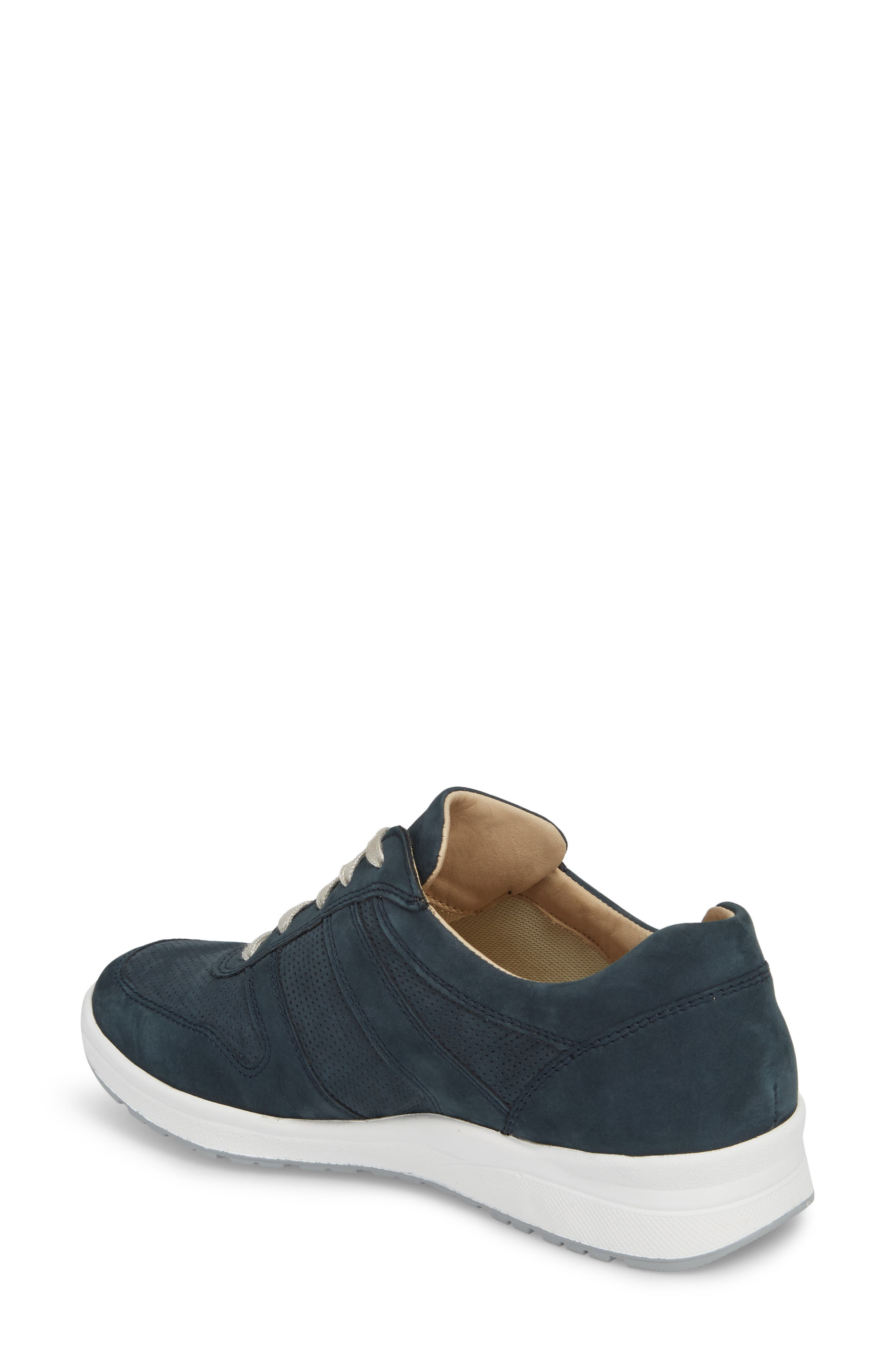 MEPHISTO, Rebecca Perforated Sneaker, Alternate thumbnail 2, color, NAVY