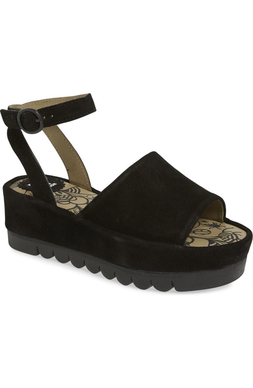 517df1a8f42c Fly London  Booz  Ankle Strap Platform Sandal (Women)