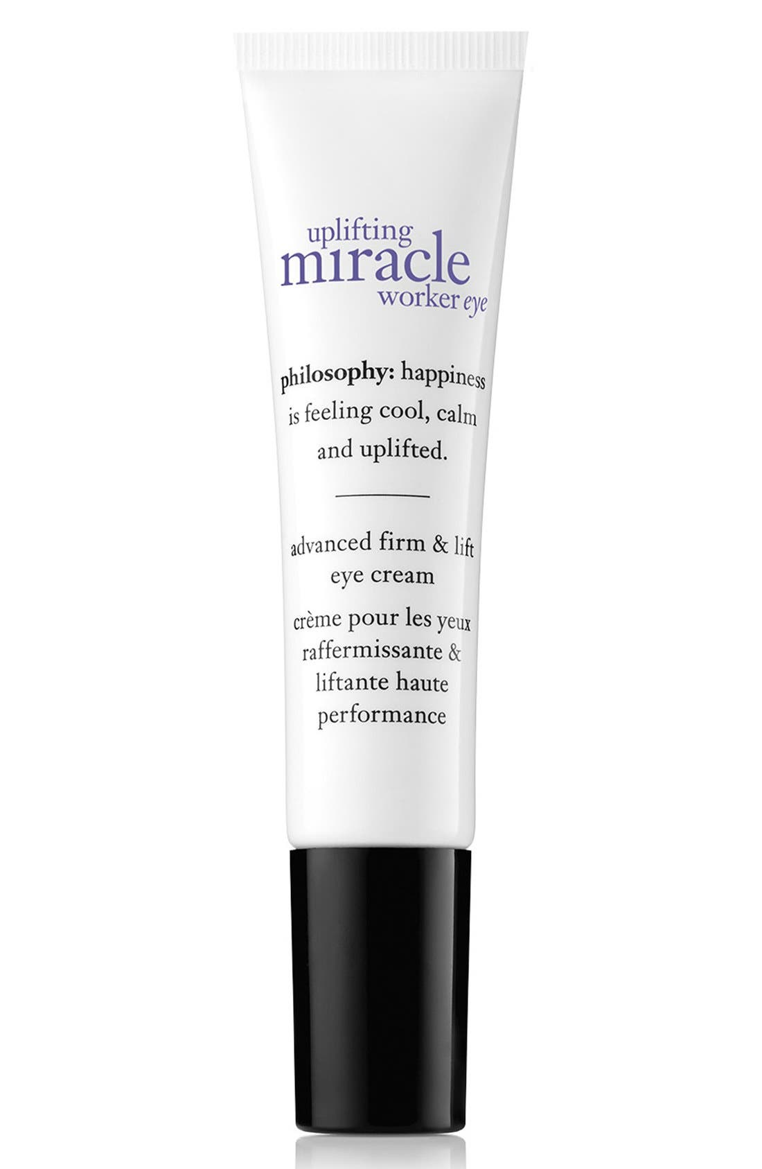 PHILOSOPHY, 'uplifting miracle worker' eye cream, Main thumbnail 1, color, NO COLOR