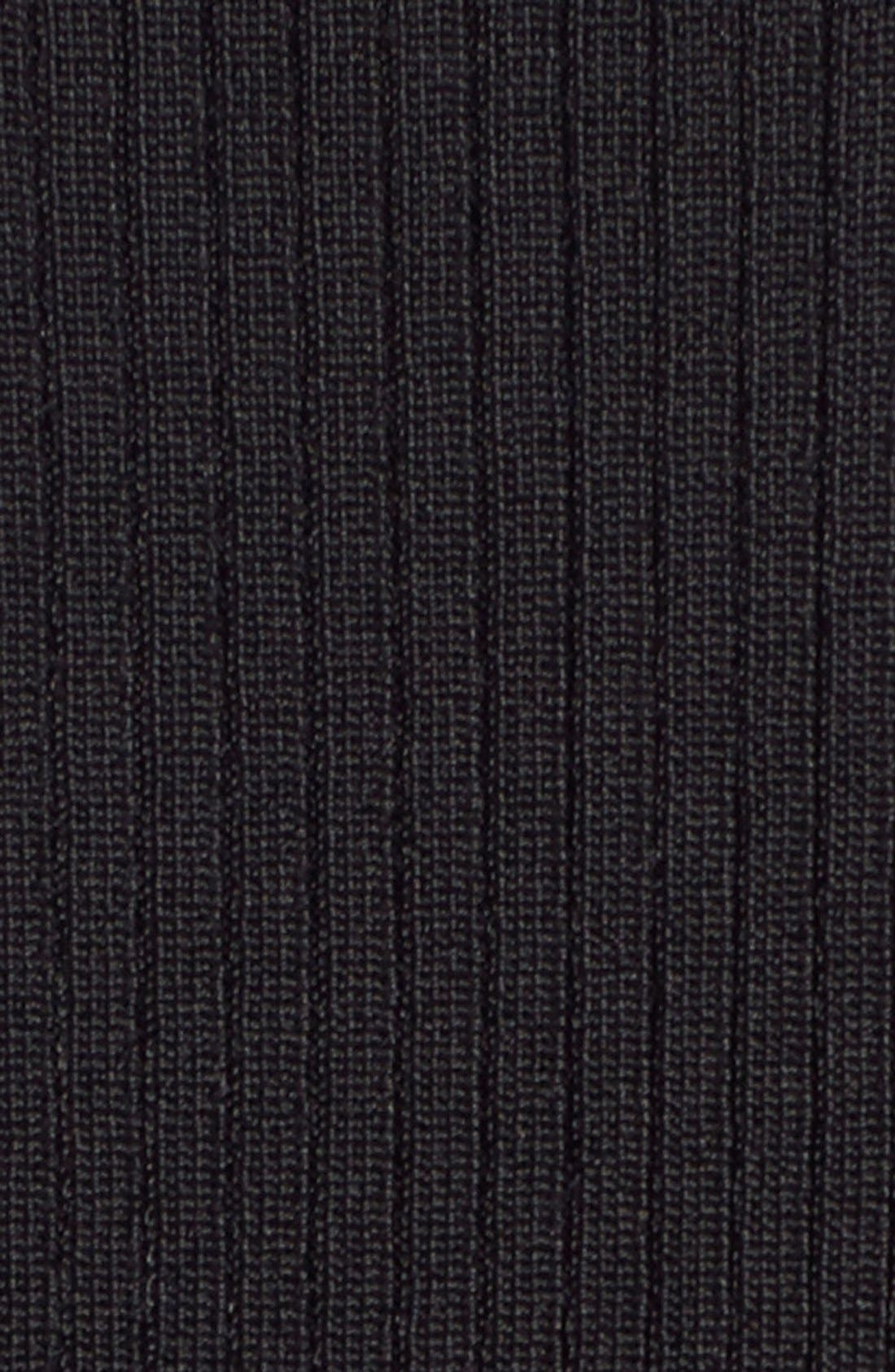 HALOGEN<SUP>®</SUP>, Ribbed Mock Neck Top, Alternate thumbnail 4, color, 001