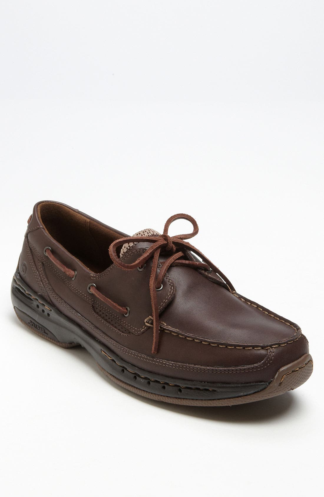 DUNHAM, 'Shoreline' Boat Shoe, Main thumbnail 1, color, BROWN LEATHER