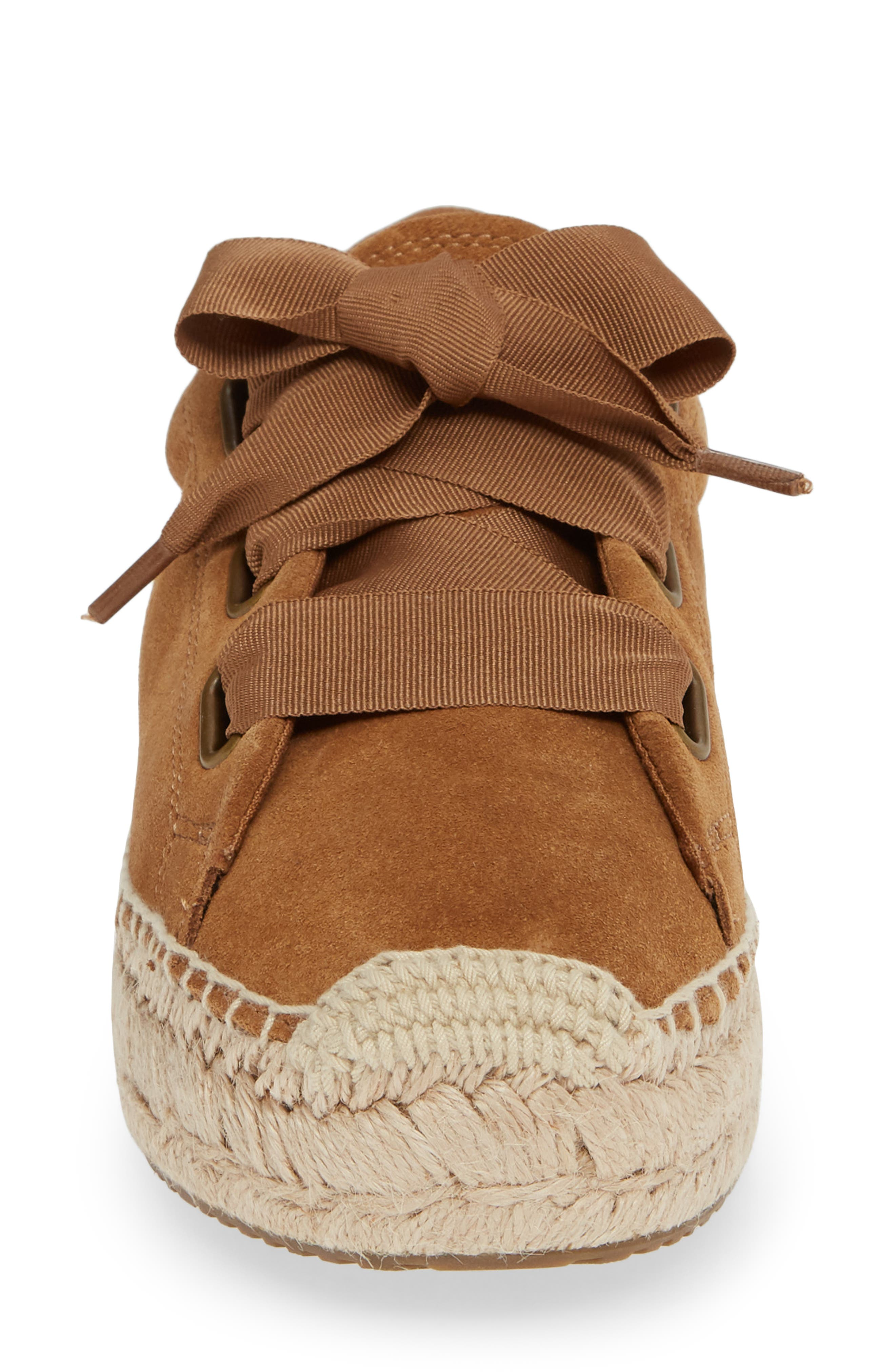 UGG<SUP>®</SUP>, Brianna Sneaker, Alternate thumbnail 4, color, CHESTNUT SUEDE