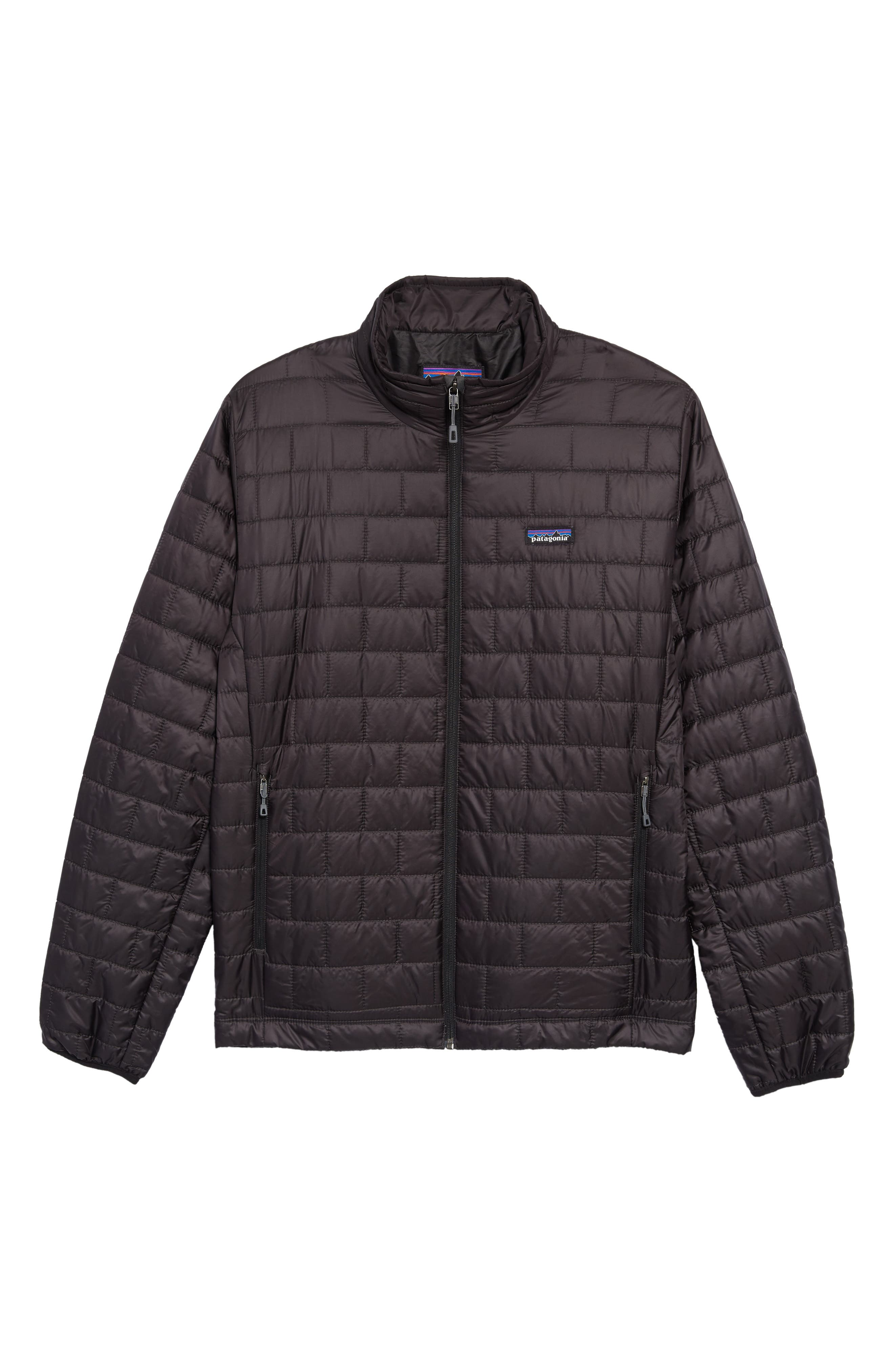 PATAGONIA, 'Nano Puff<sup>®</sup>' Water Resistant Jacket, Alternate thumbnail 2, color, BLACK