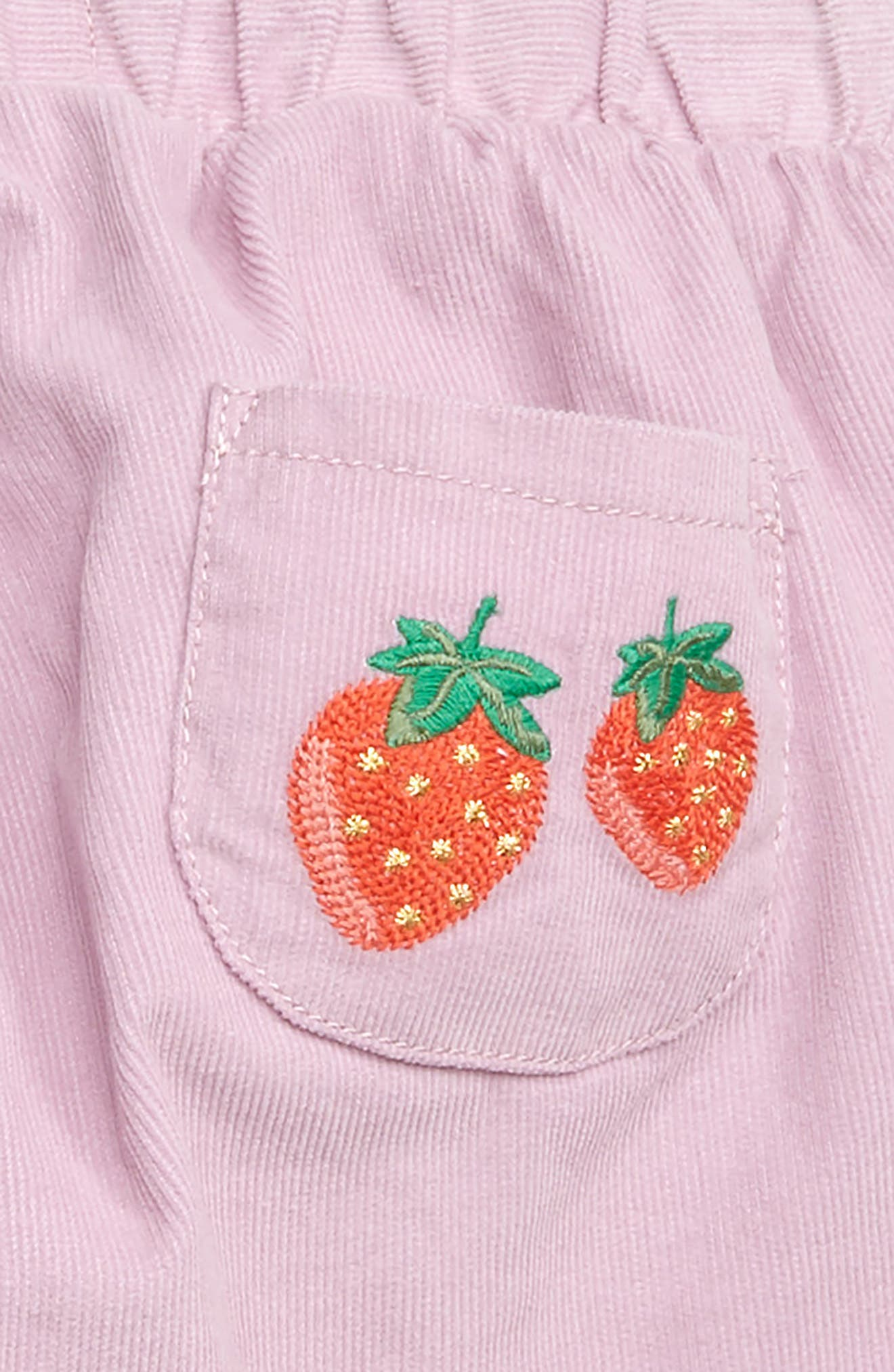 MINI BODEN, Pretty Pocket Corduroy Pants, Alternate thumbnail 3, color, DELPHINIUM PURPLE STRAWBERRY