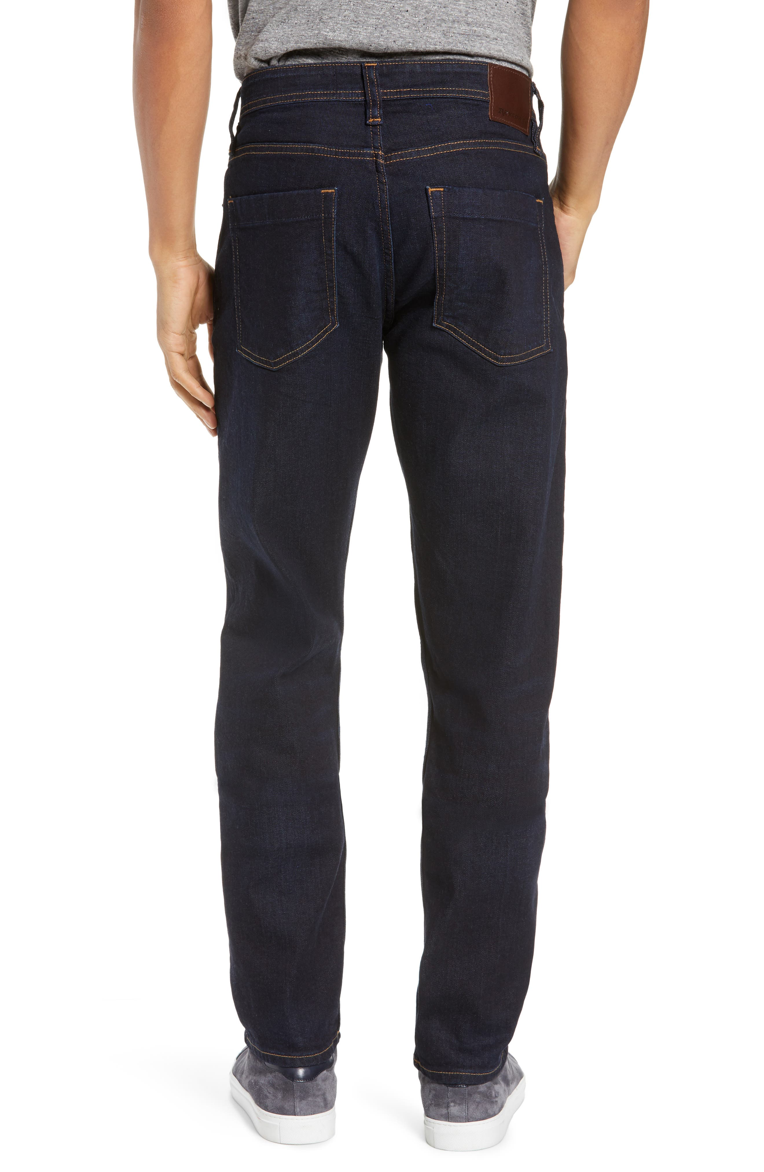 REVTOWN, Sharp Slim Fit Jeans, Alternate thumbnail 2, color, DARK INDIGO