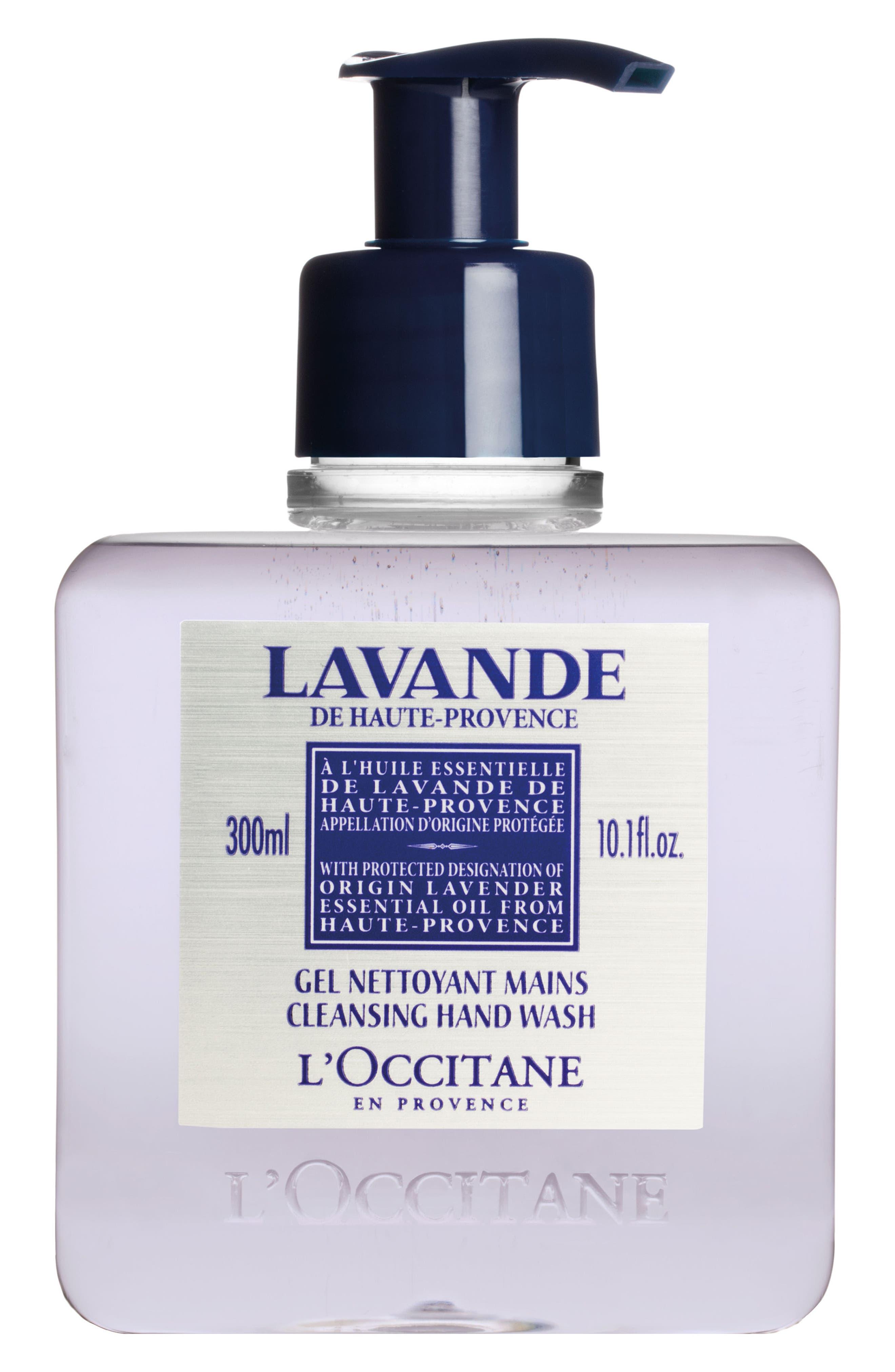 L'OCCITANE, Lavender Cleansing Hand Wash, Main thumbnail 1, color, 000