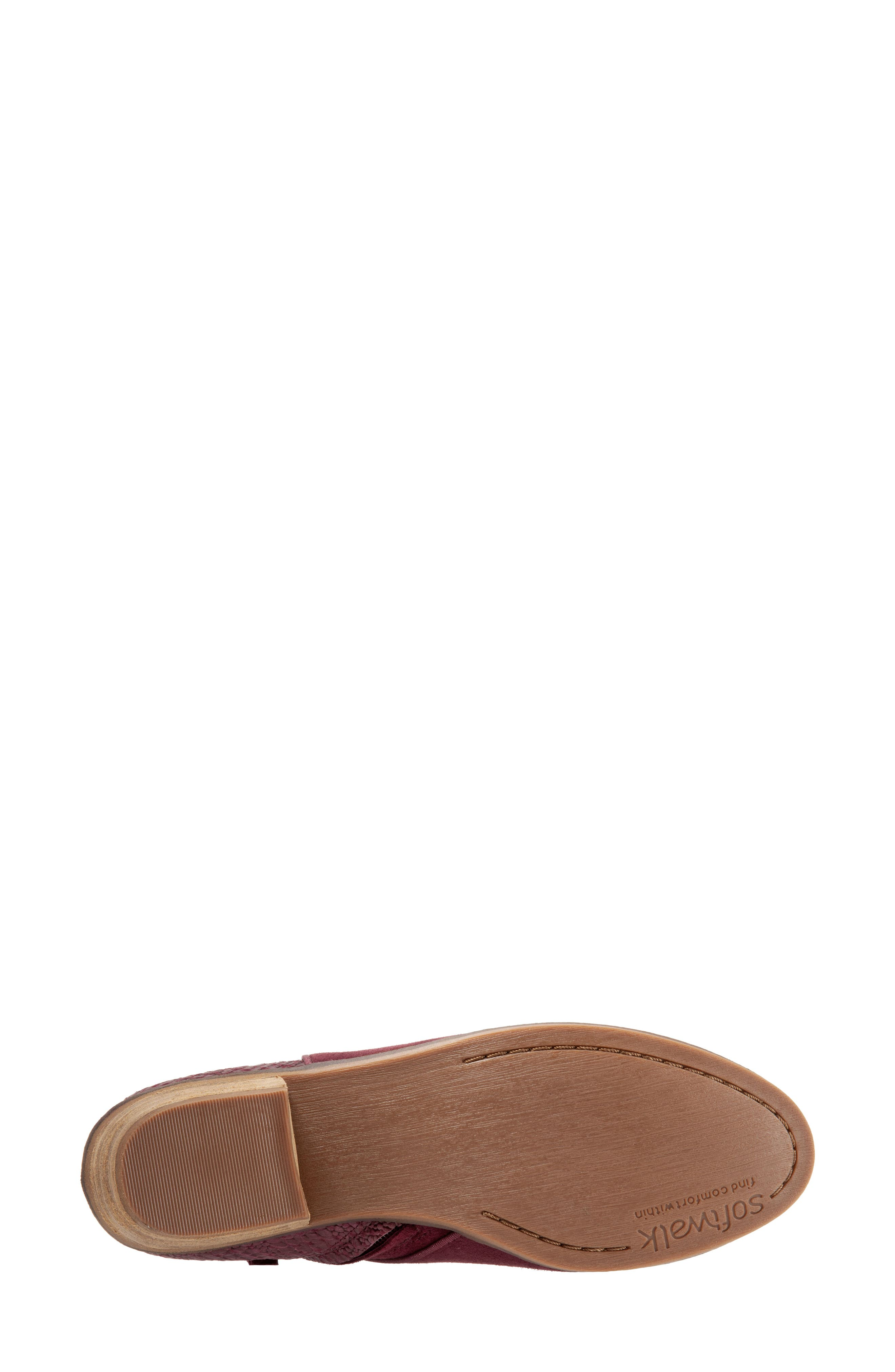 SOFTWALK<SUP>®</SUP>, 'Rocklin' Bootie, Alternate thumbnail 5, color, BURGUNDY LEATHER