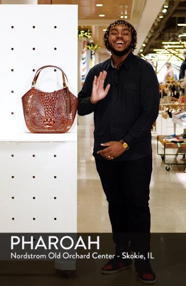 Marianna Croc Embossed Leather Tote, sales video thumbnail
