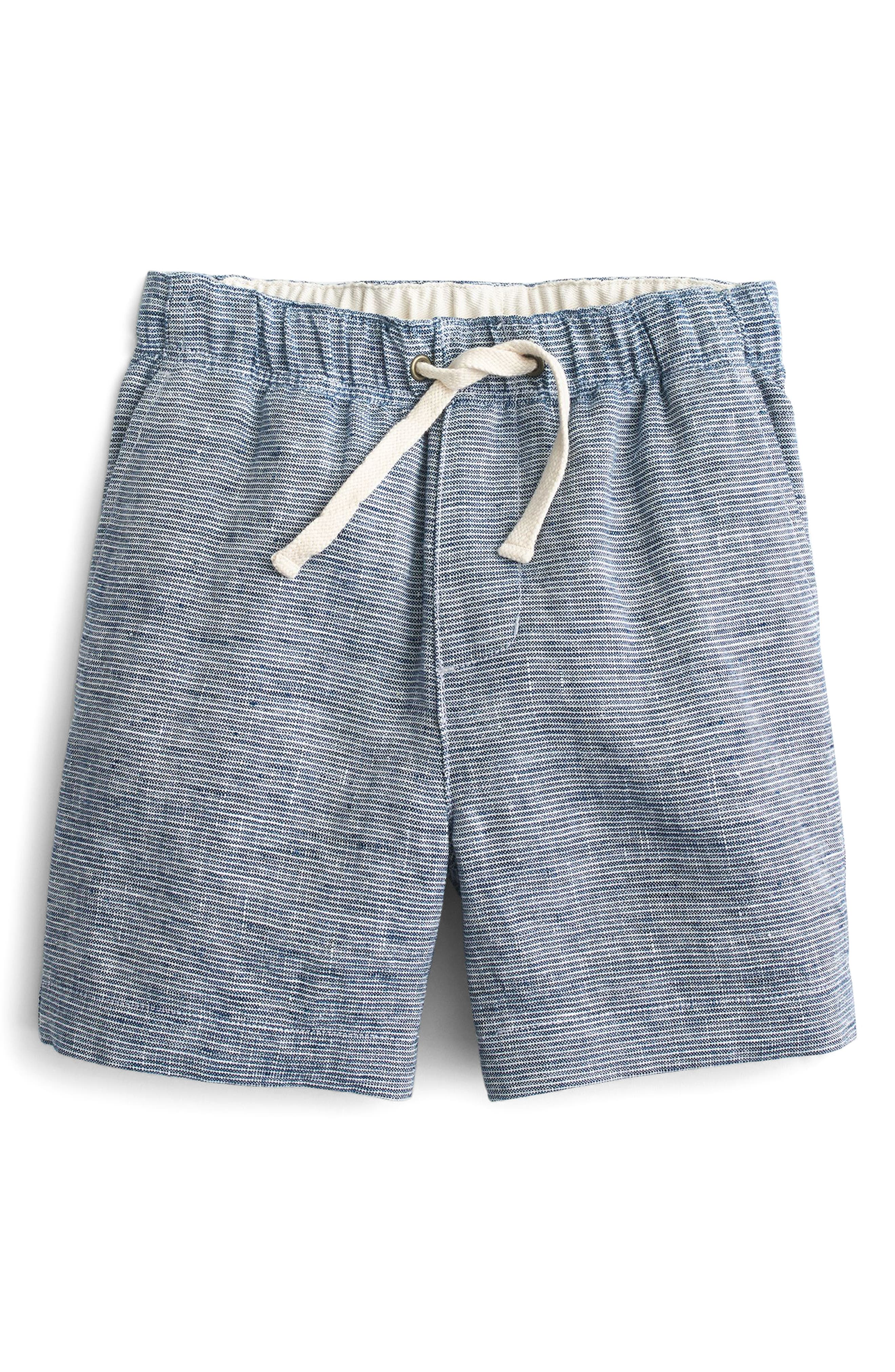 Boys Crewcuts By Jcrew Stripe Linen Dock Shorts Size 7  Blue