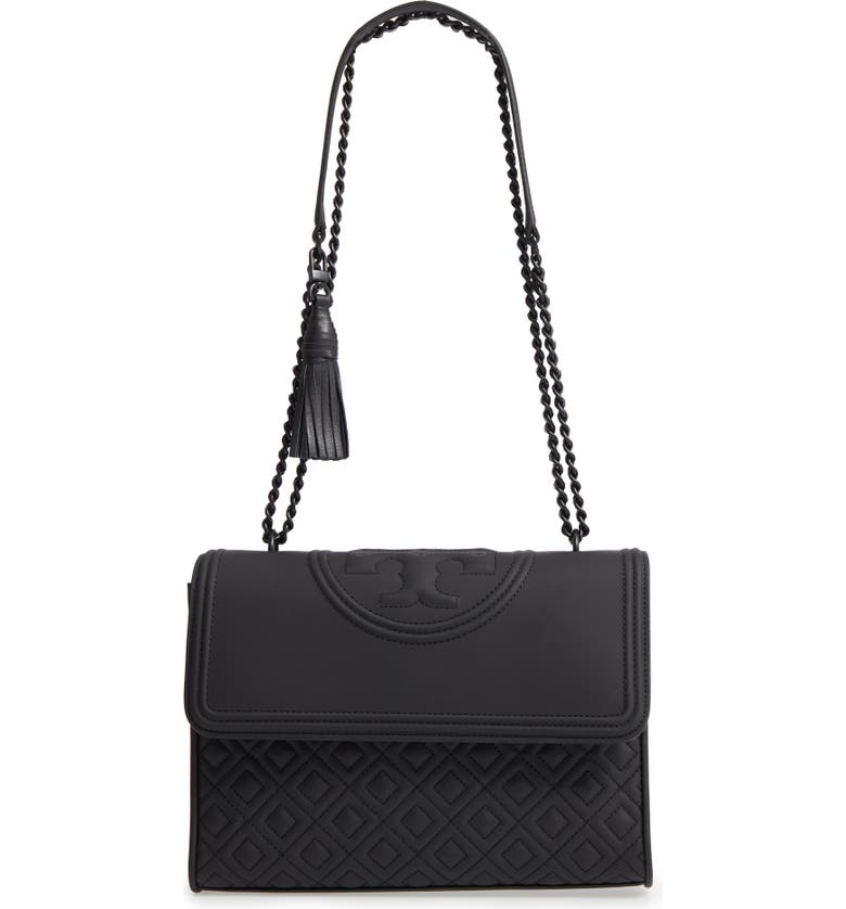 82620e750e4dd Tory Burch Fleming Matte Quilted Faux Leather Convertible Shoulder ...