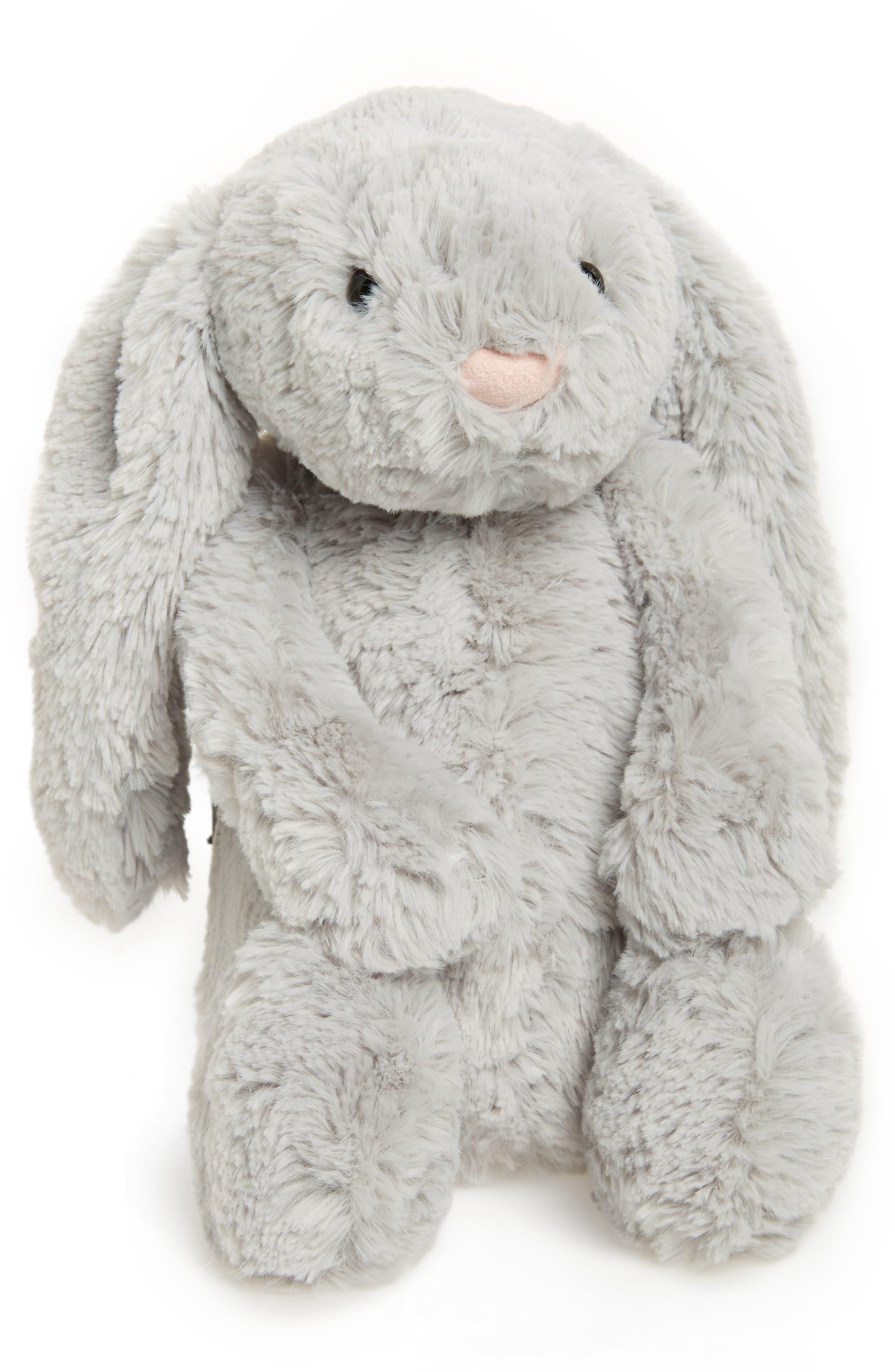 JELLYCAT, 'Bashful Bunny' Stuffed Animal, Main thumbnail 1, color, GREY