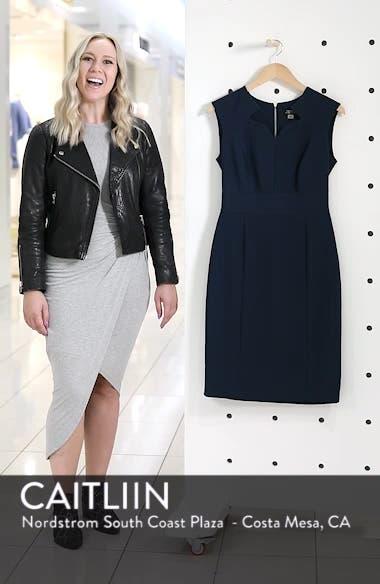 Star Neckline Crepe Sheath Dress, sales video thumbnail