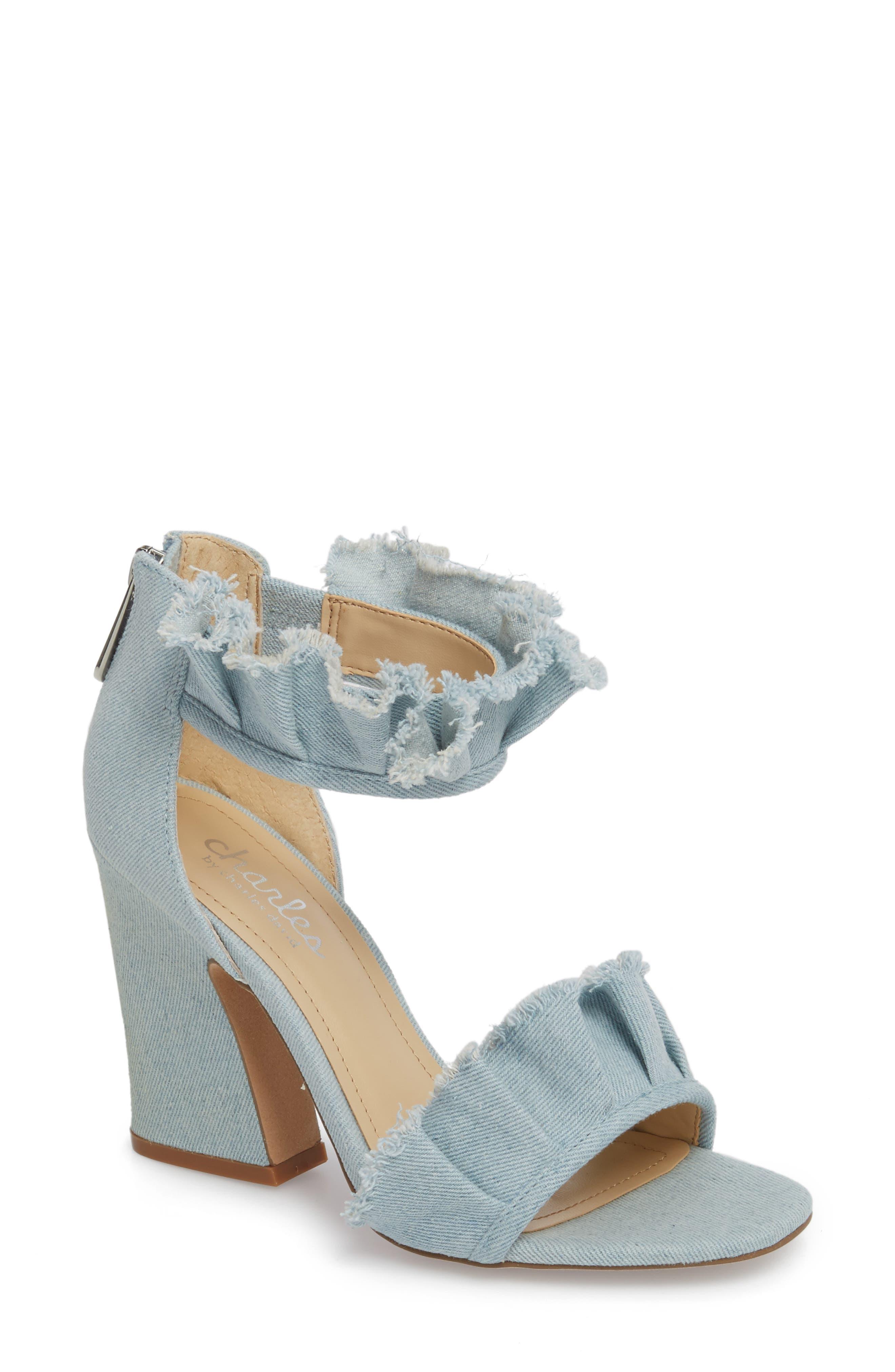Charles By Charles David Haley Ruffle Sandal, Blue