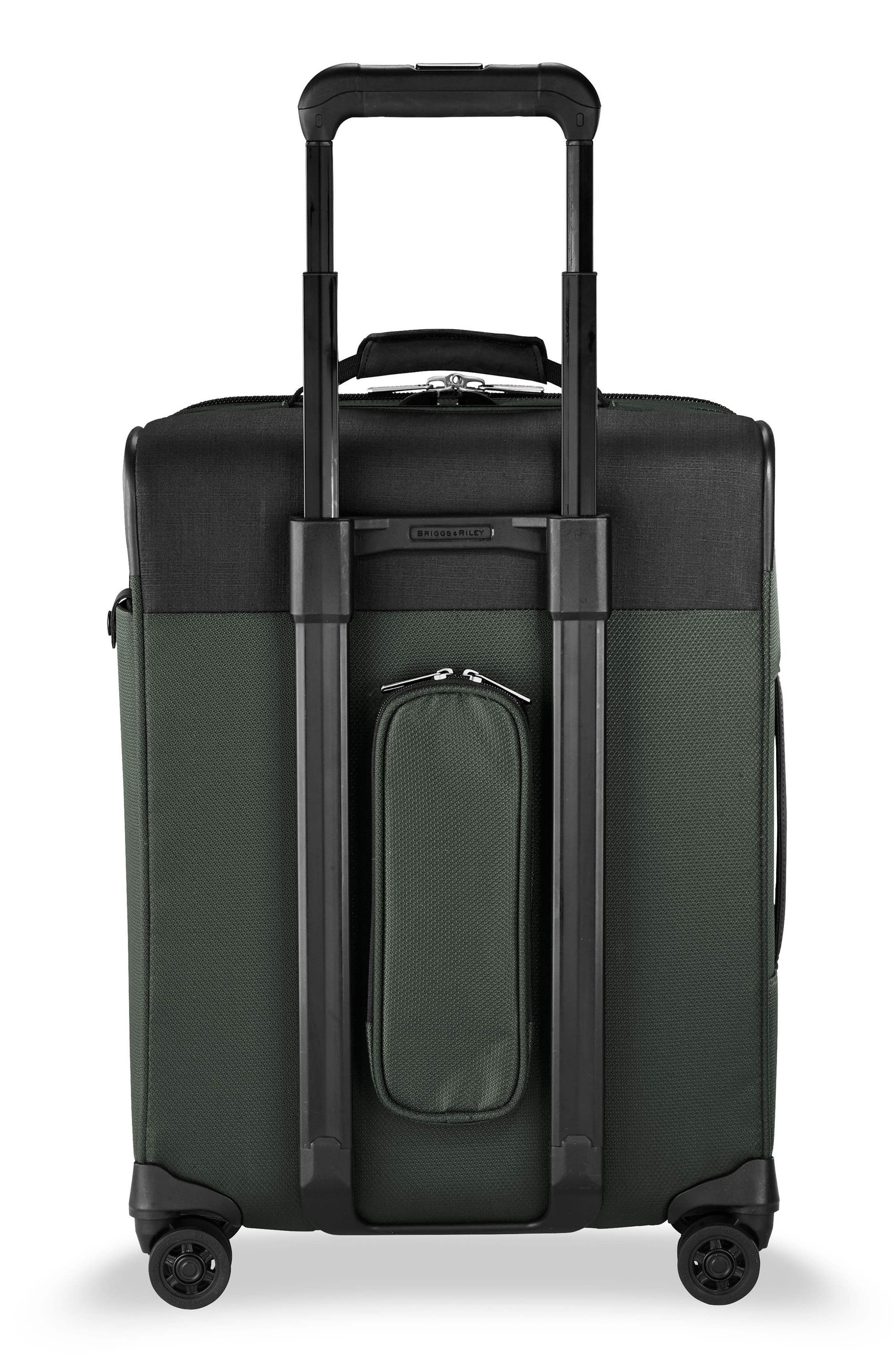 BRIGGS & RILEY, Transcend VX Wide Expandable 21-Inch Spinner Suitcase, Alternate thumbnail 4, color, RAINFOREST GREEN