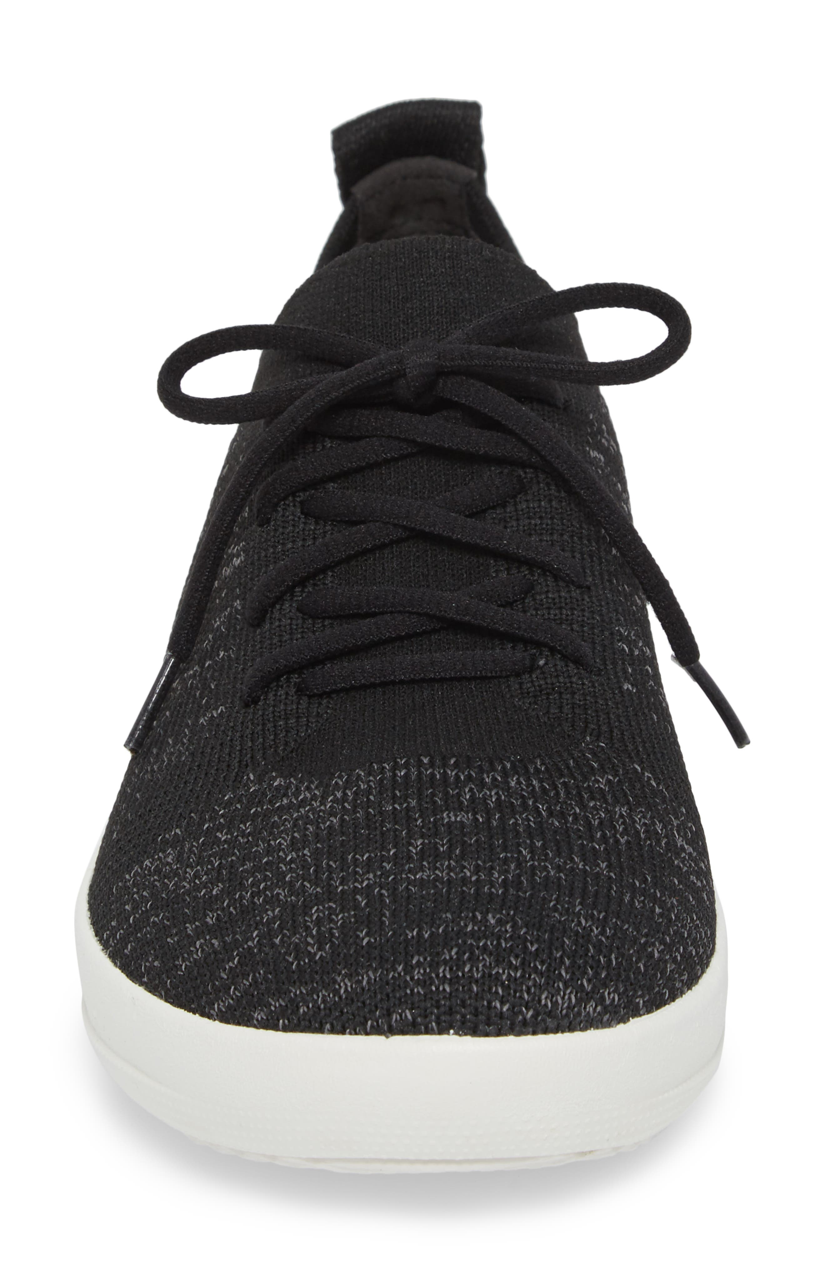 FITFLOP, F-Sporty Uberknit<sup>™</sup> Sneaker, Alternate thumbnail 4, color, BLACK