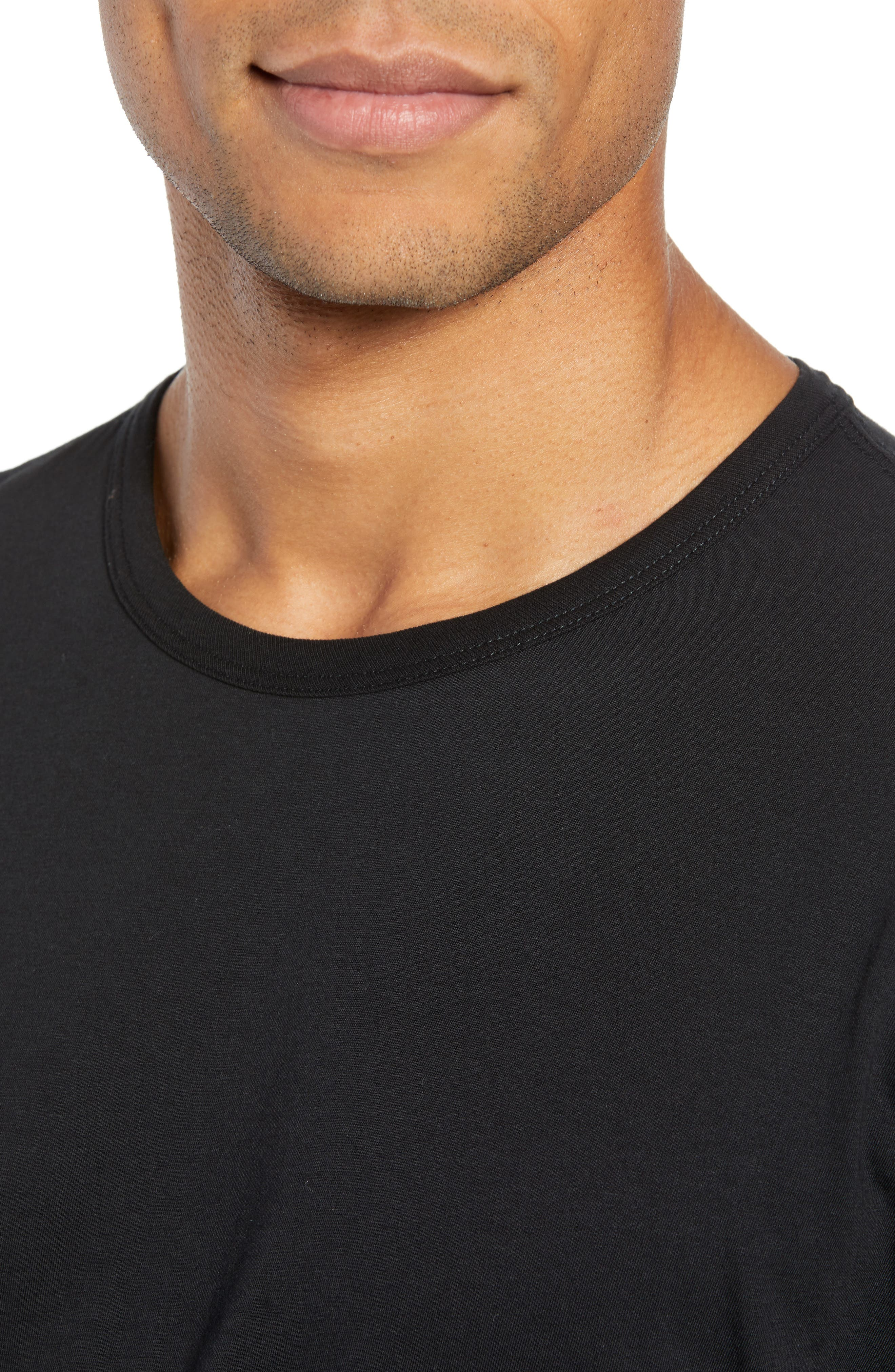 RAG & BONE, Classic Base T-Shirt, Alternate thumbnail 4, color, BLACK