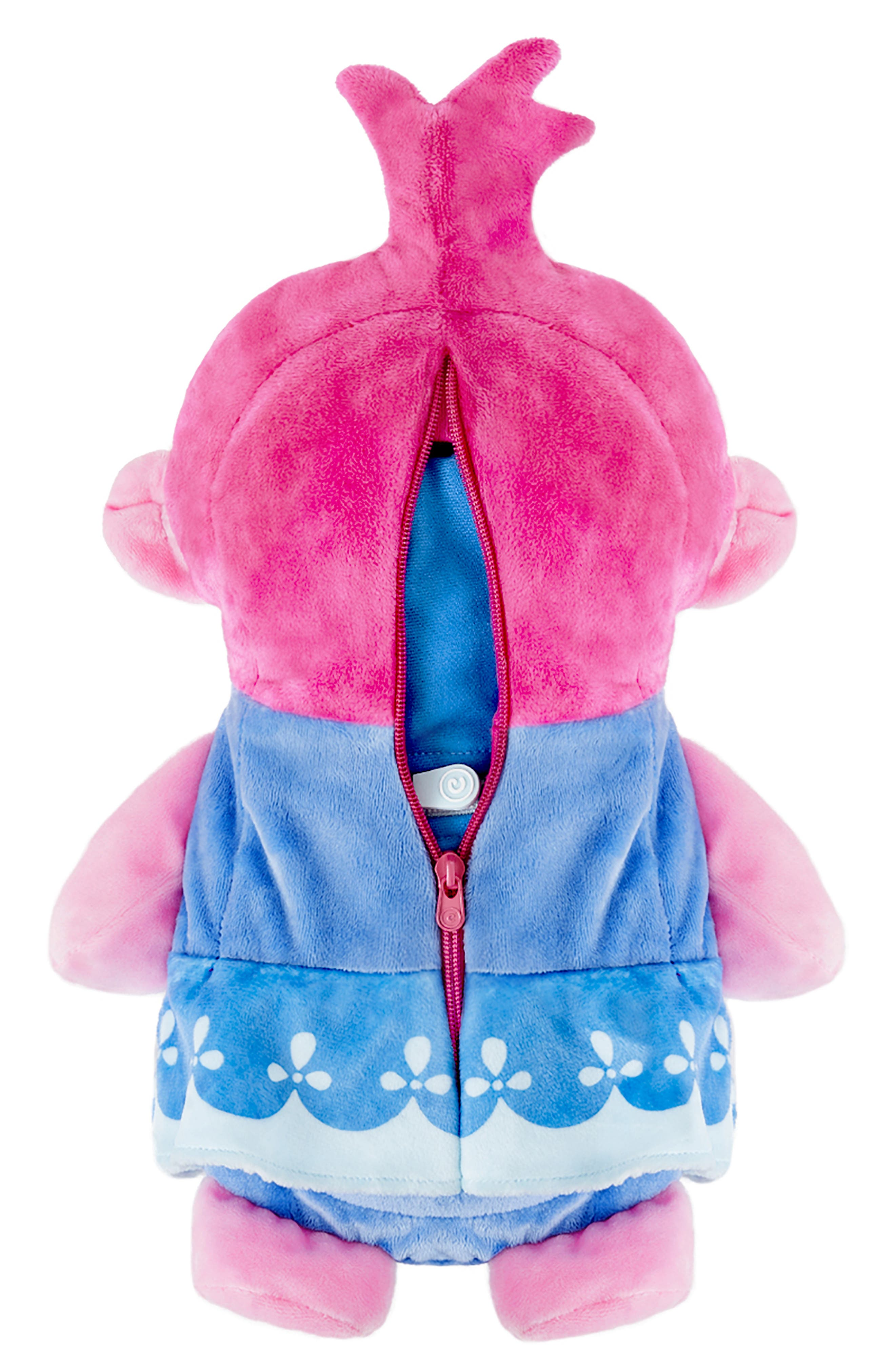 CUBCOATS, DreamWorks Trolls Poppy 2-in-1 Stuffed Animal Hoodie, Alternate thumbnail 6, color, PINK MIX