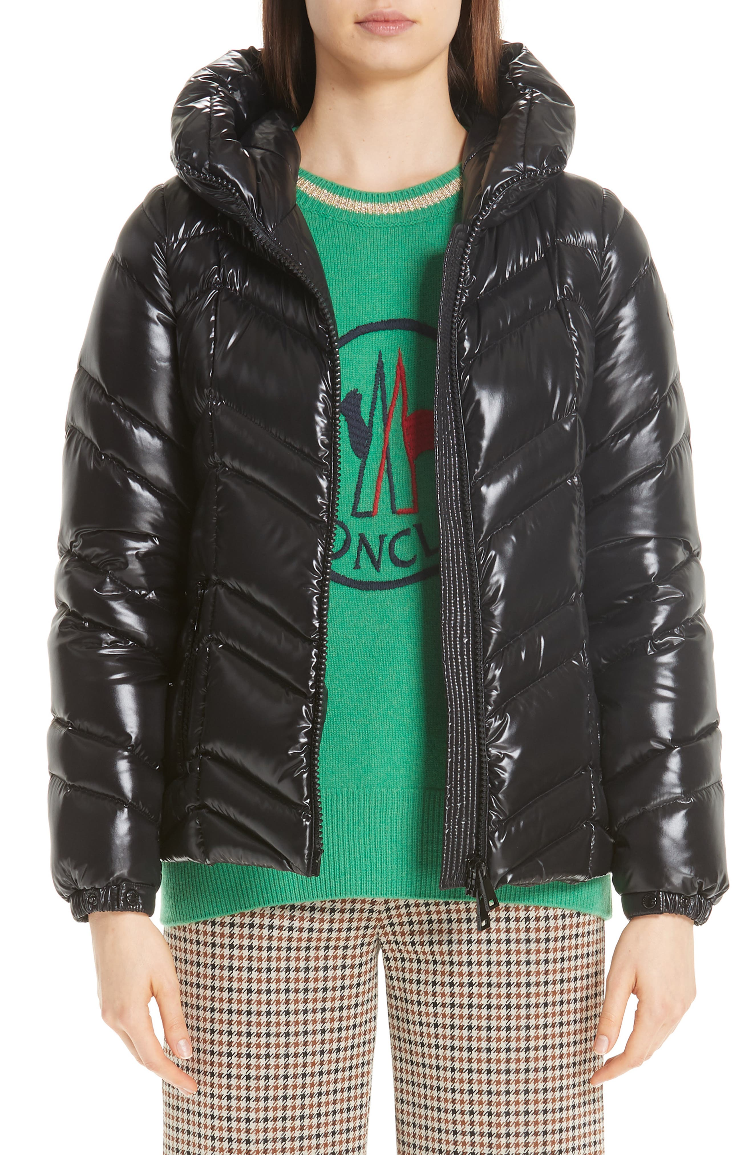 MONCLER Fuligule Guibbotto Hooded Puffer Coat, Main, color, 001