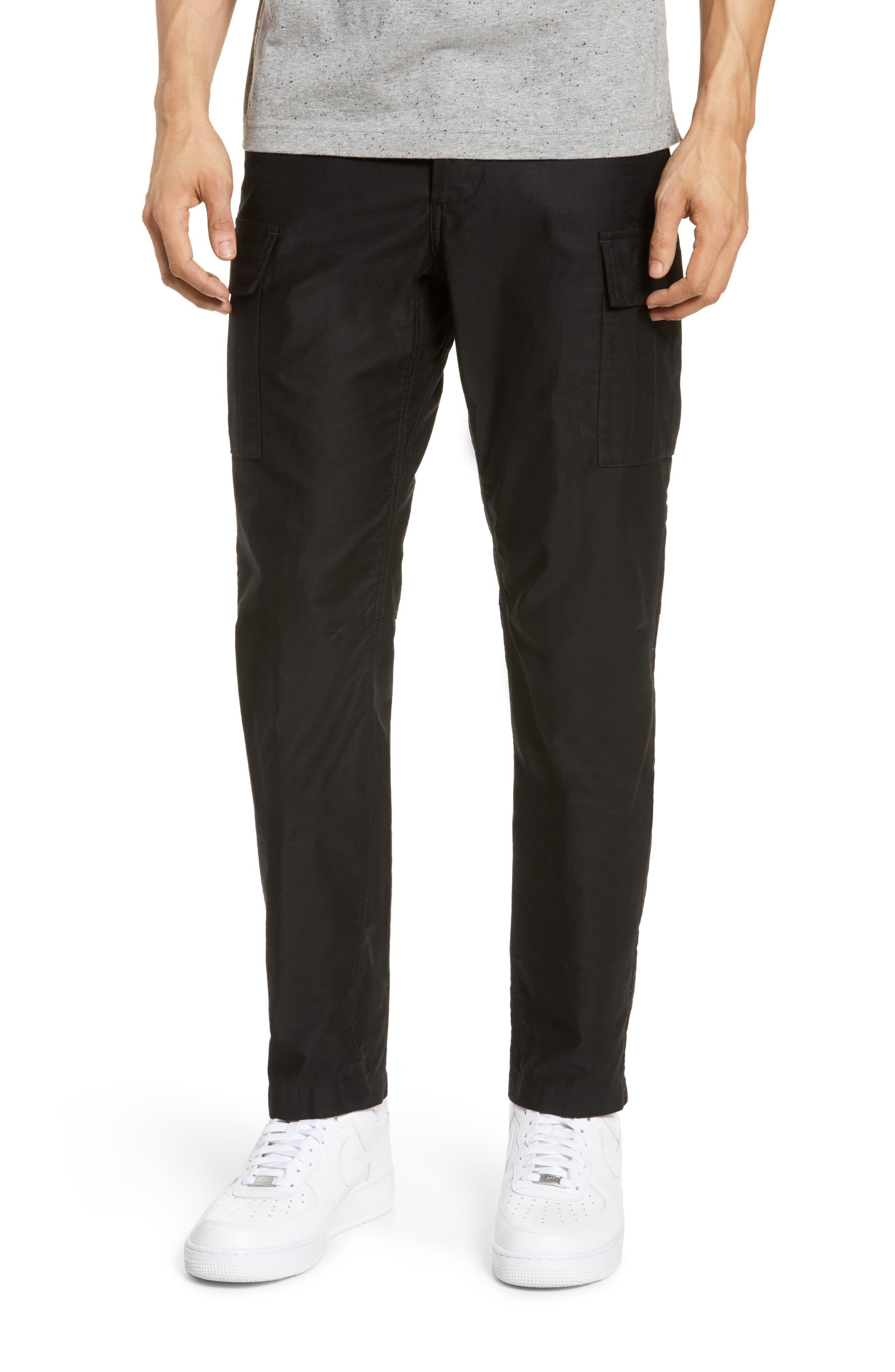 Wings + Horns Slim Fit Utility Cargo Pants, Black