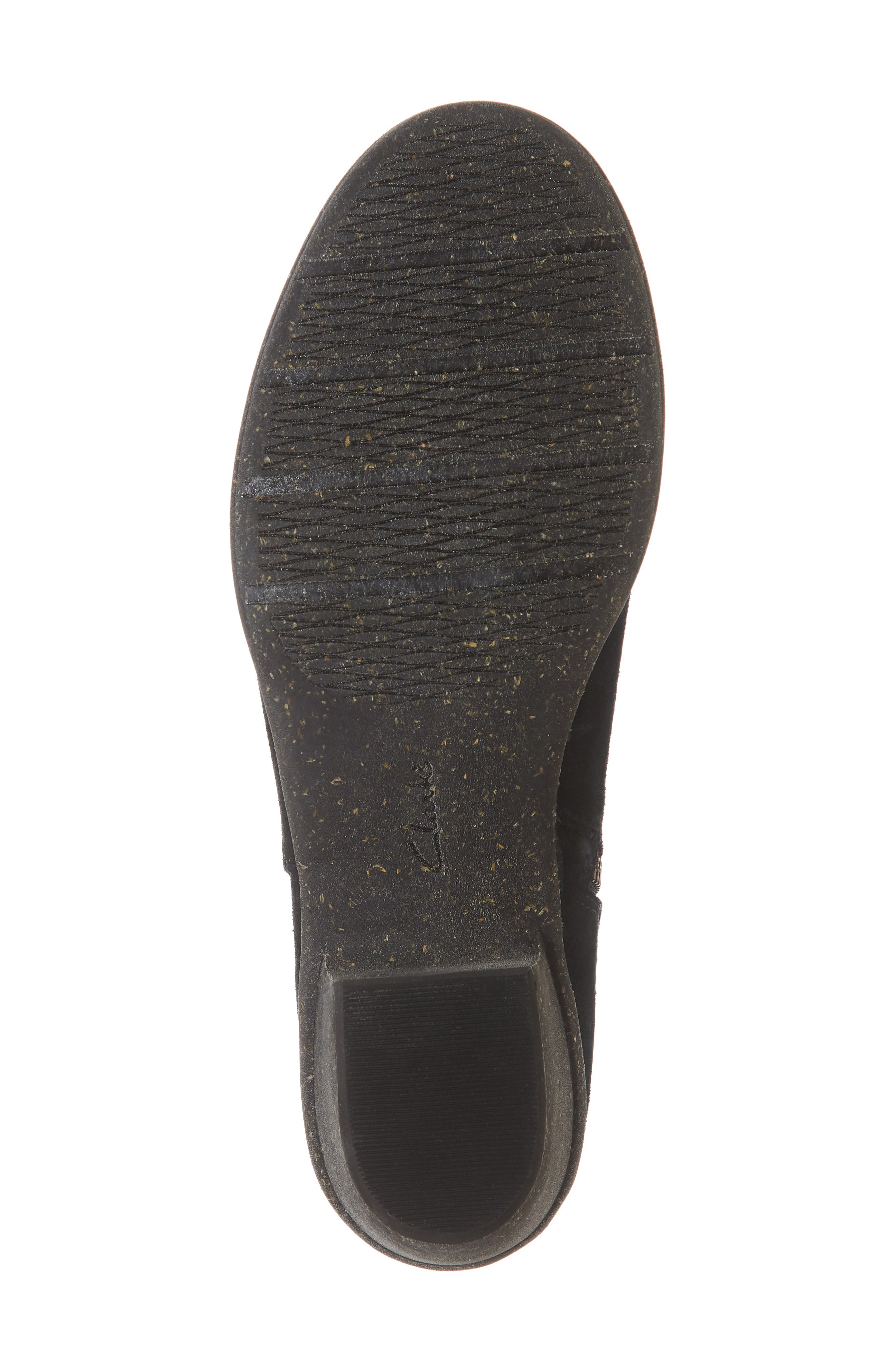 CLARKS<SUP>®</SUP>, Wilrose Frost Bootie, Alternate thumbnail 6, color, BLACK SUEDE