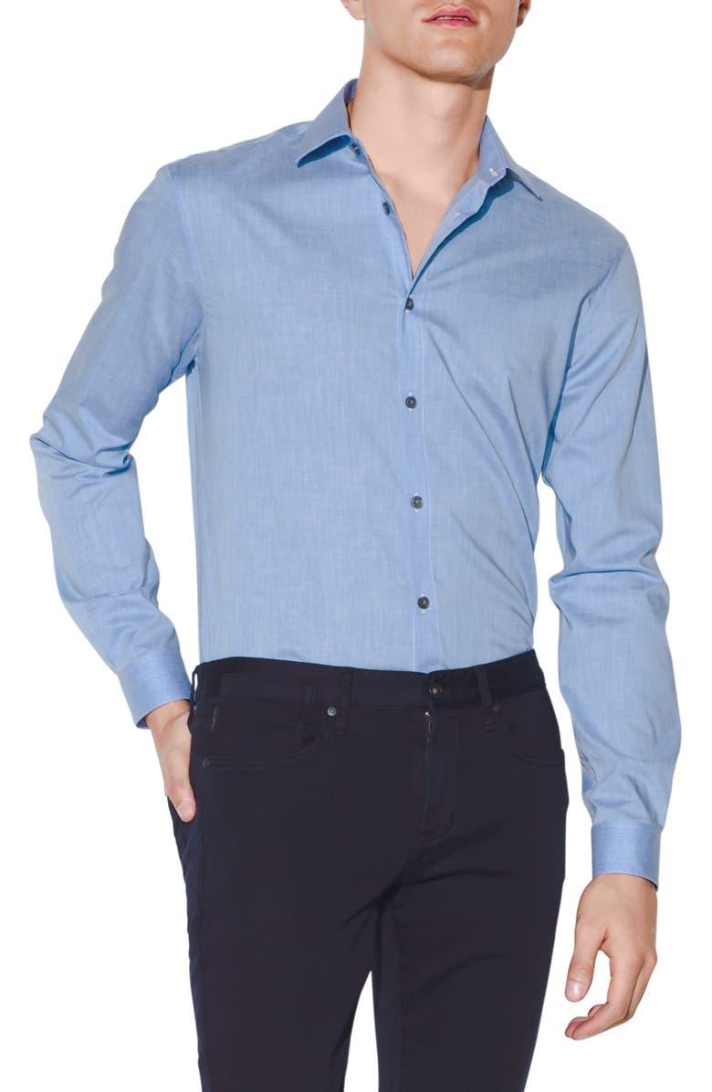 John Varvatos Dresses SLIM FIT COTTON DRESS SHIRT