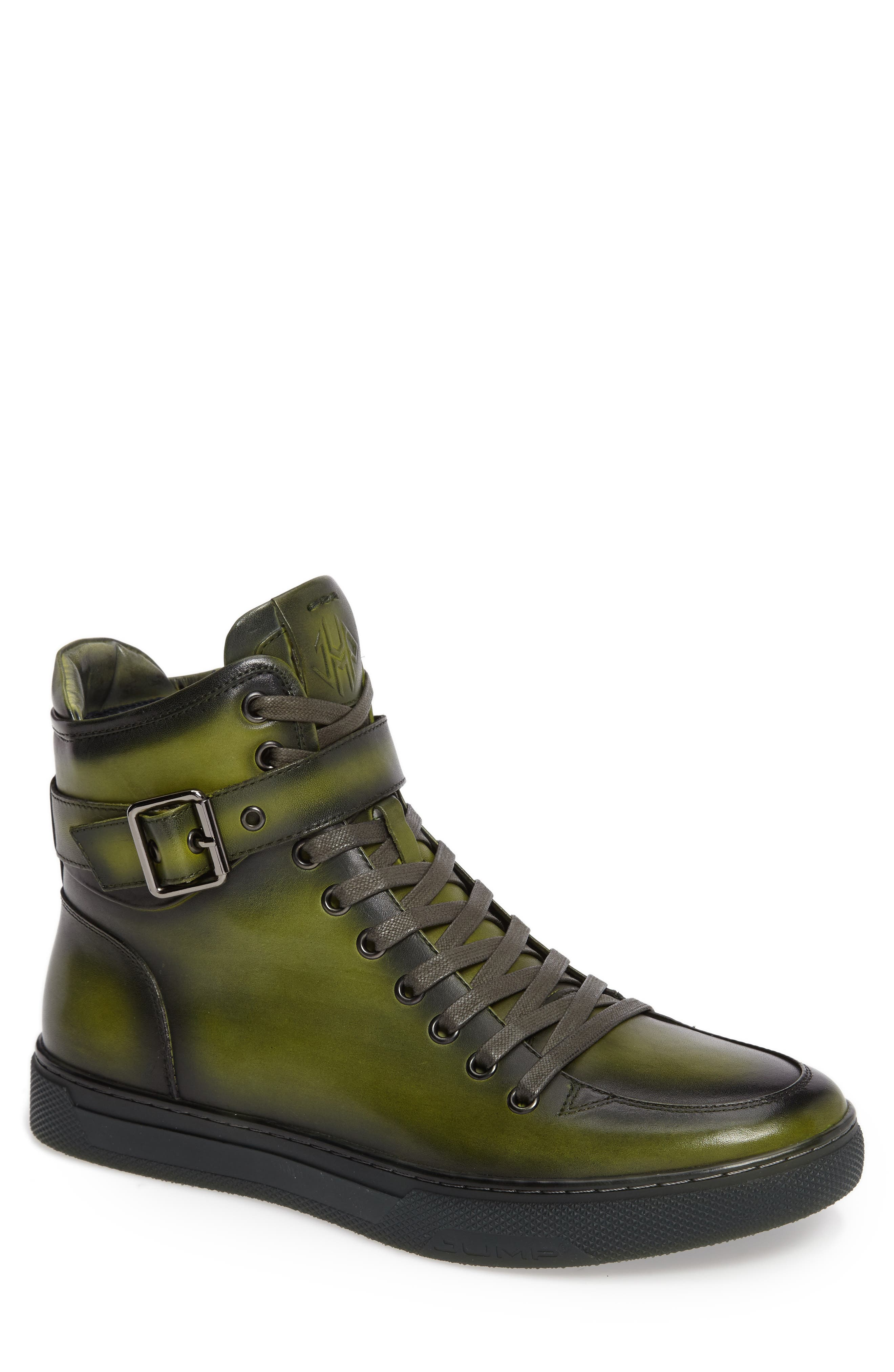 JUMP, Sullivan High Top Sneaker, Main thumbnail 1, color, AMAZON GREEN