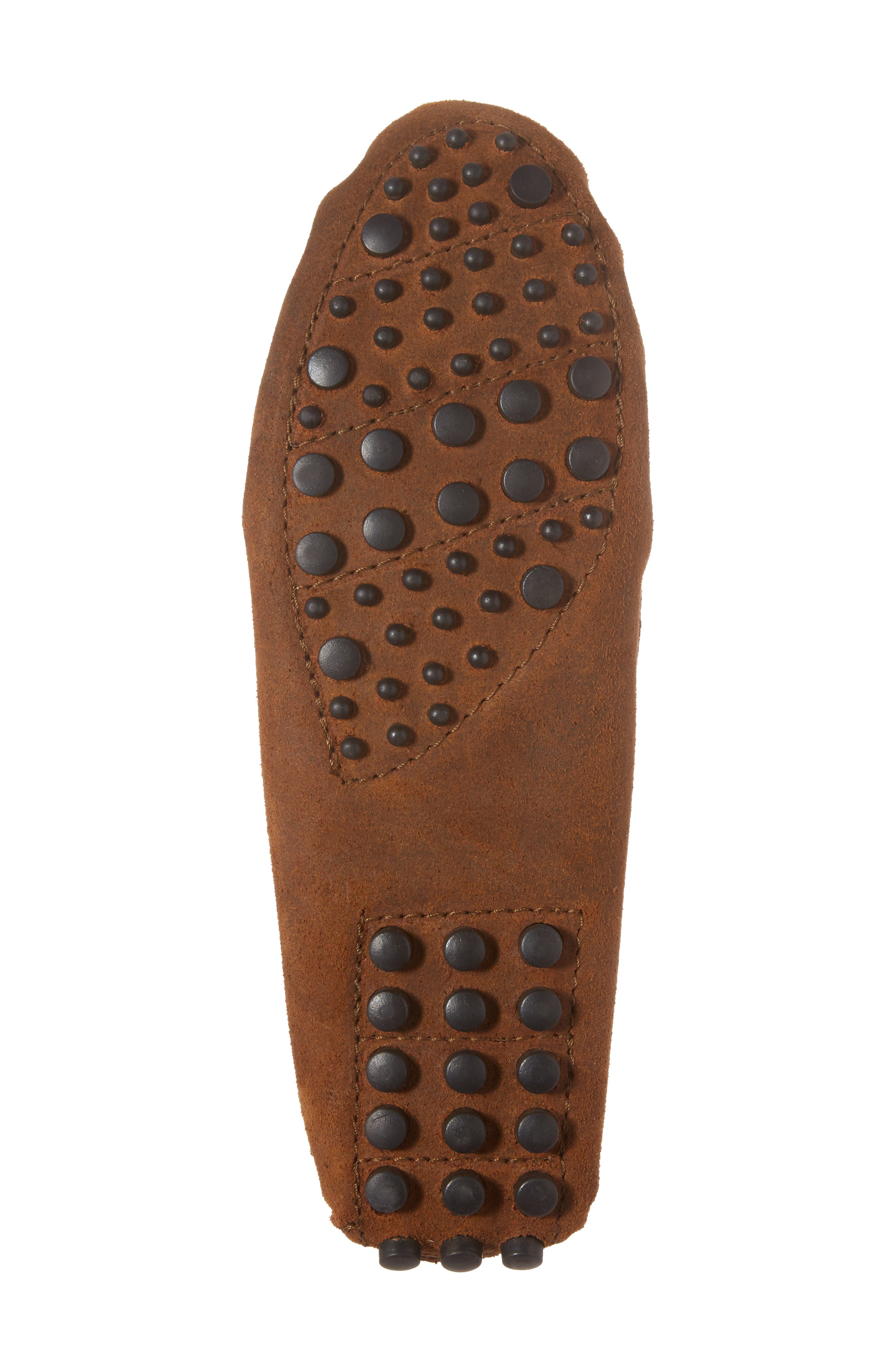 MINNETONKA, Kilty Driving Moccasin, Alternate thumbnail 6, color, BROWN RUFF