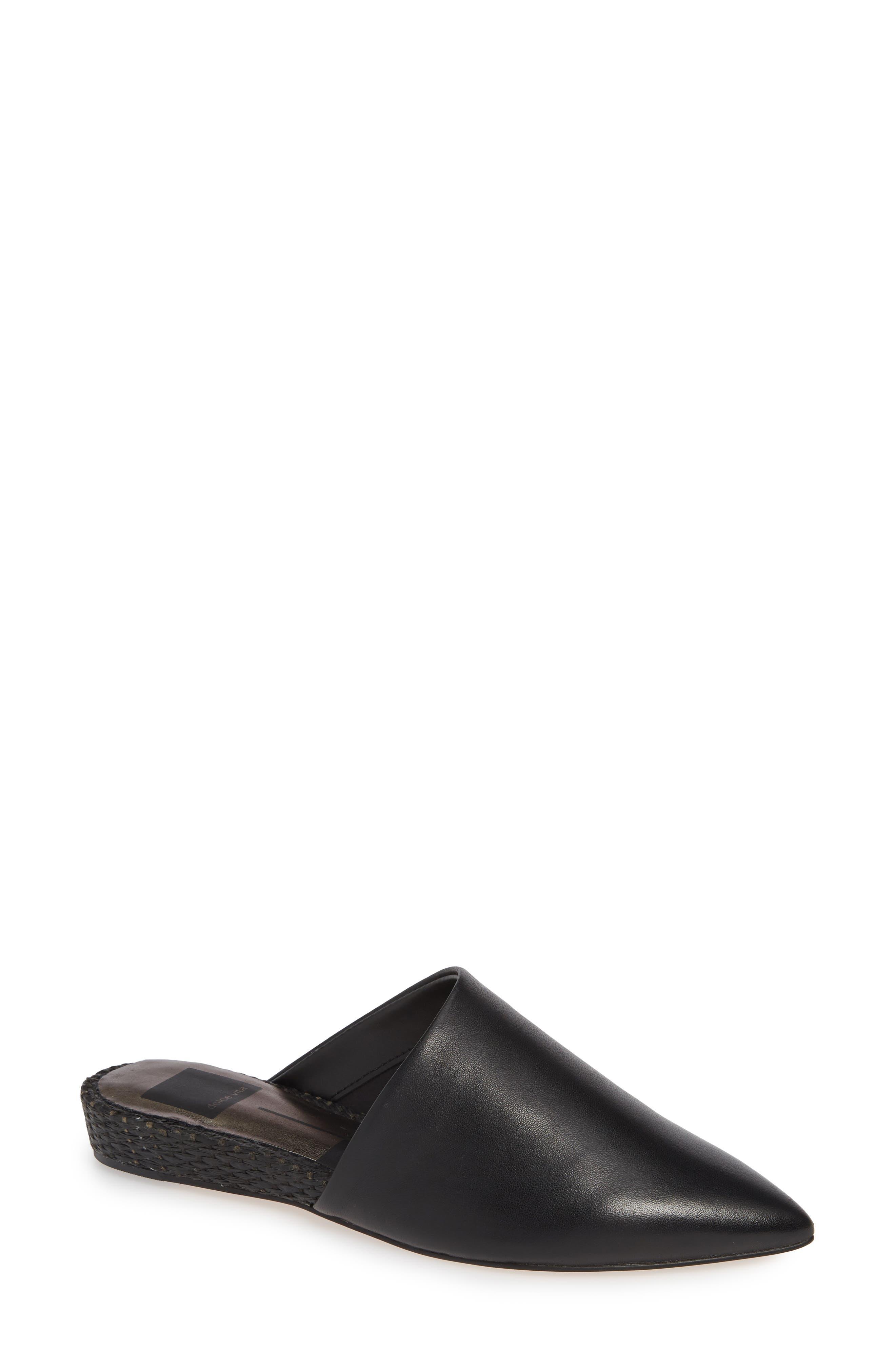 DOLCE VITA Ekko Asymmetrical Mule, Main, color, BLACK LEATHER