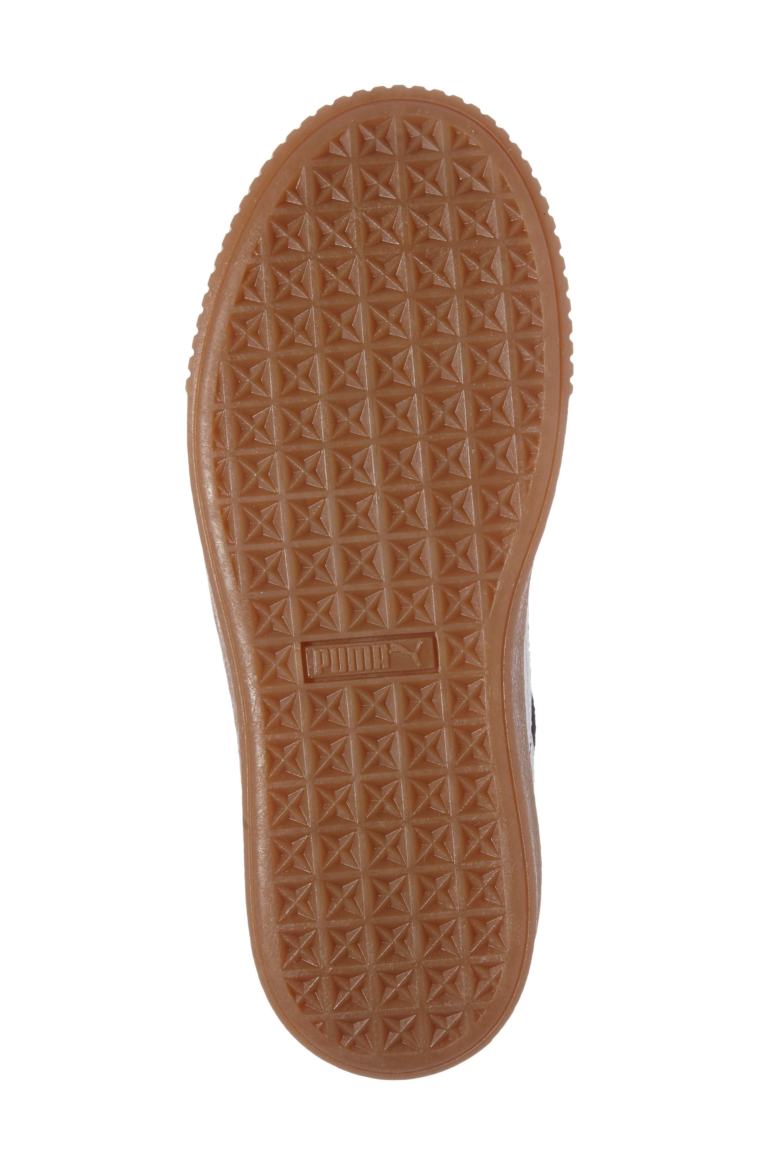 PUMA, Suede Platform Core Sneaker, Alternate thumbnail 4, color, 001