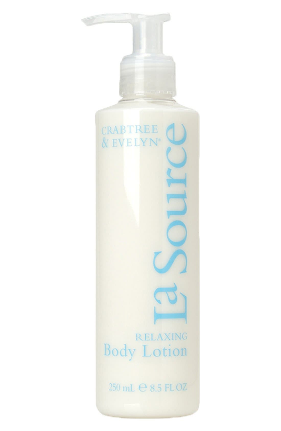 CRABTREE & EVELYN, 'La Source<sup>®</sup>' Relaxing Body Lotion, Main thumbnail 1, color, 000