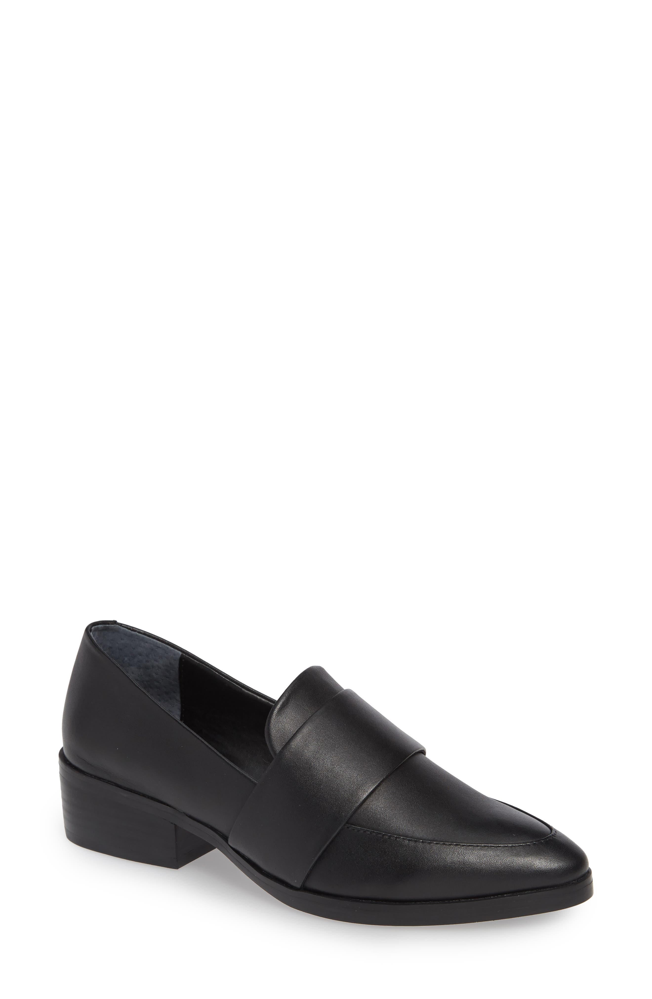 TONY BIANCO Mayfair Loafer, Main, color, BLACK LEATHER