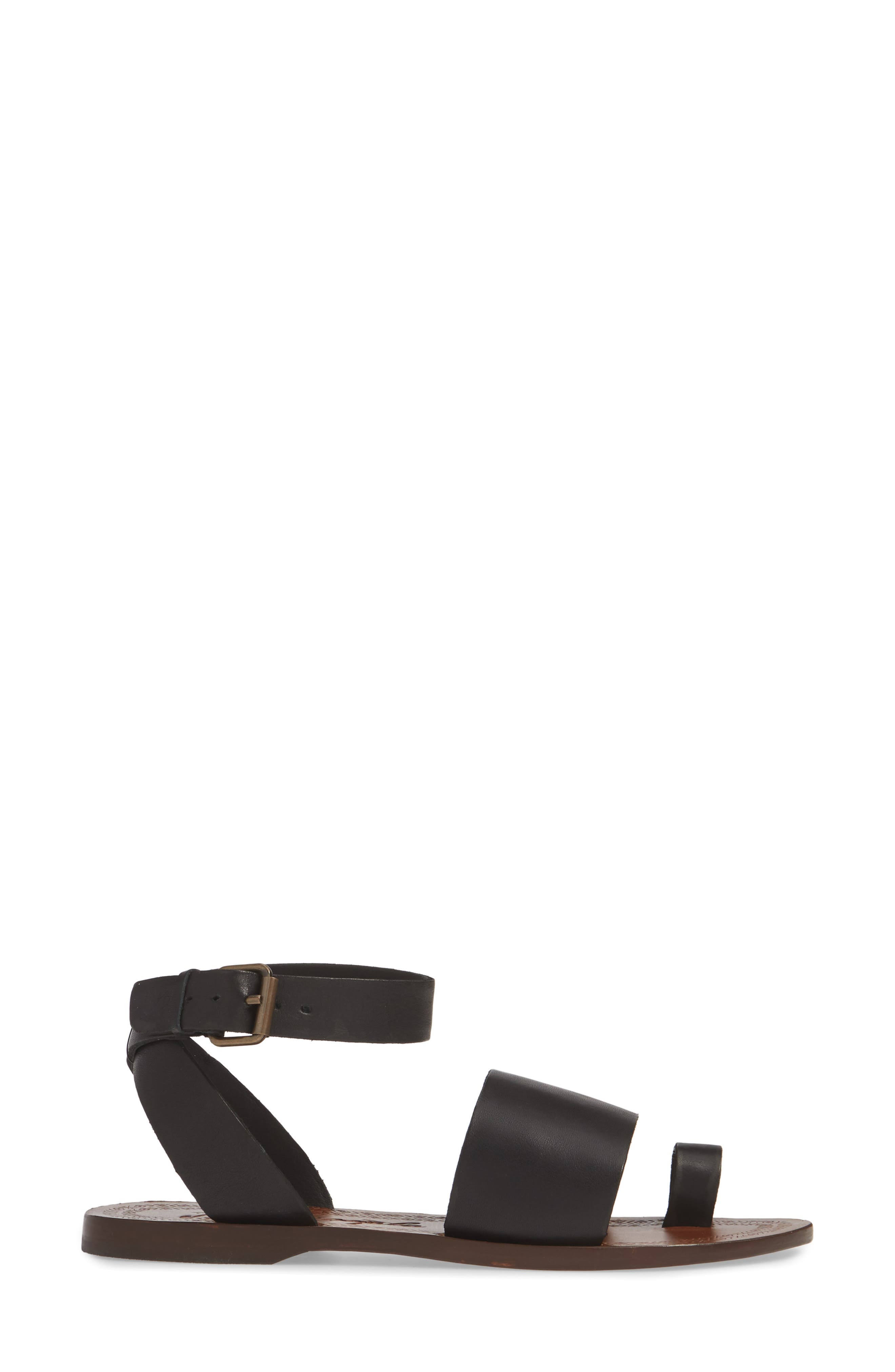 FREE PEOPLE, Torrence Ankle Wrap Sandal, Alternate thumbnail 3, color, OXFORD/ SANG