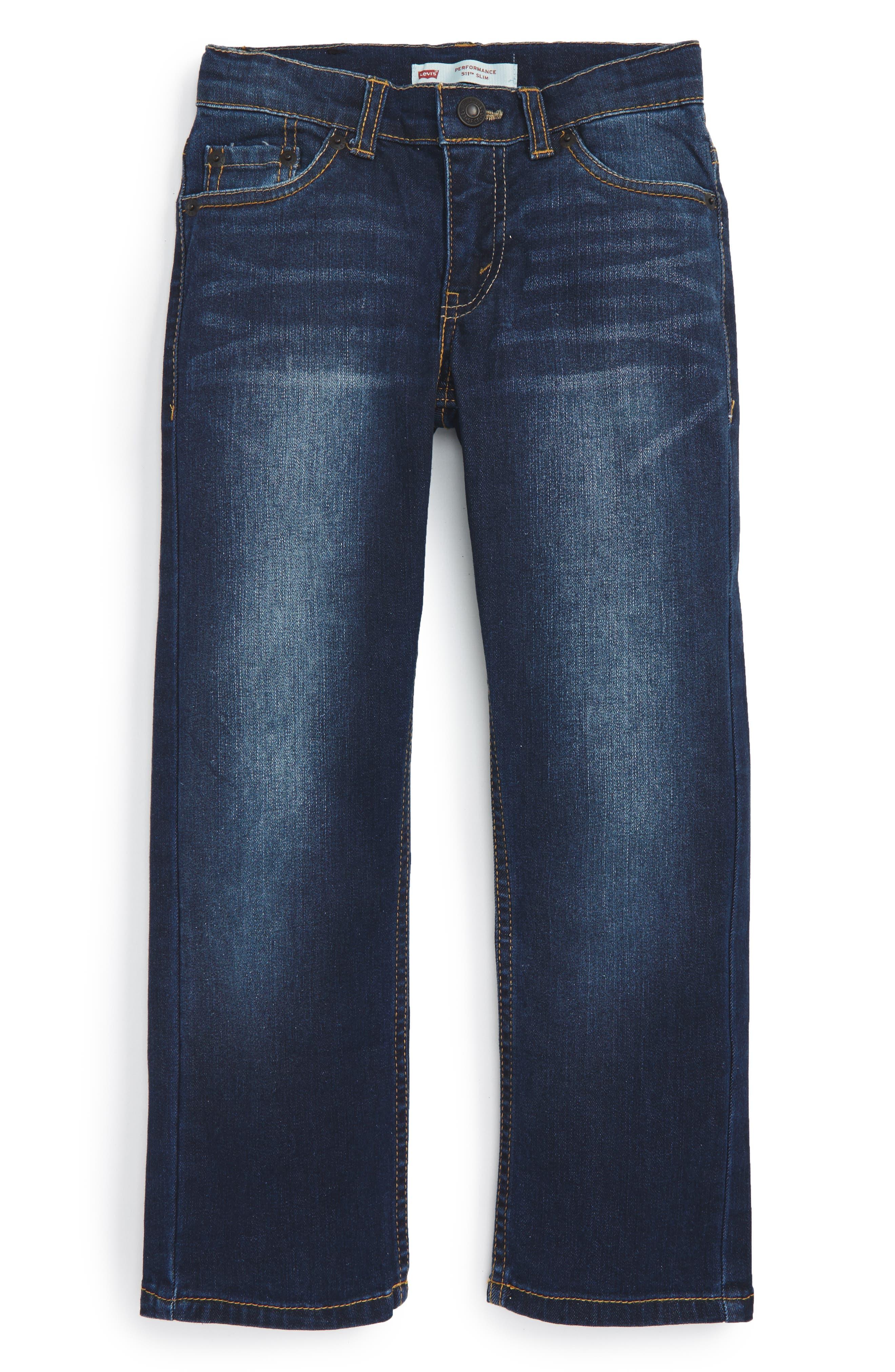 LEVI'S<SUP>®</SUP> 511<sup>™</sup> Knit Slim Leg Jeans, Main, color, BIKER BLUE