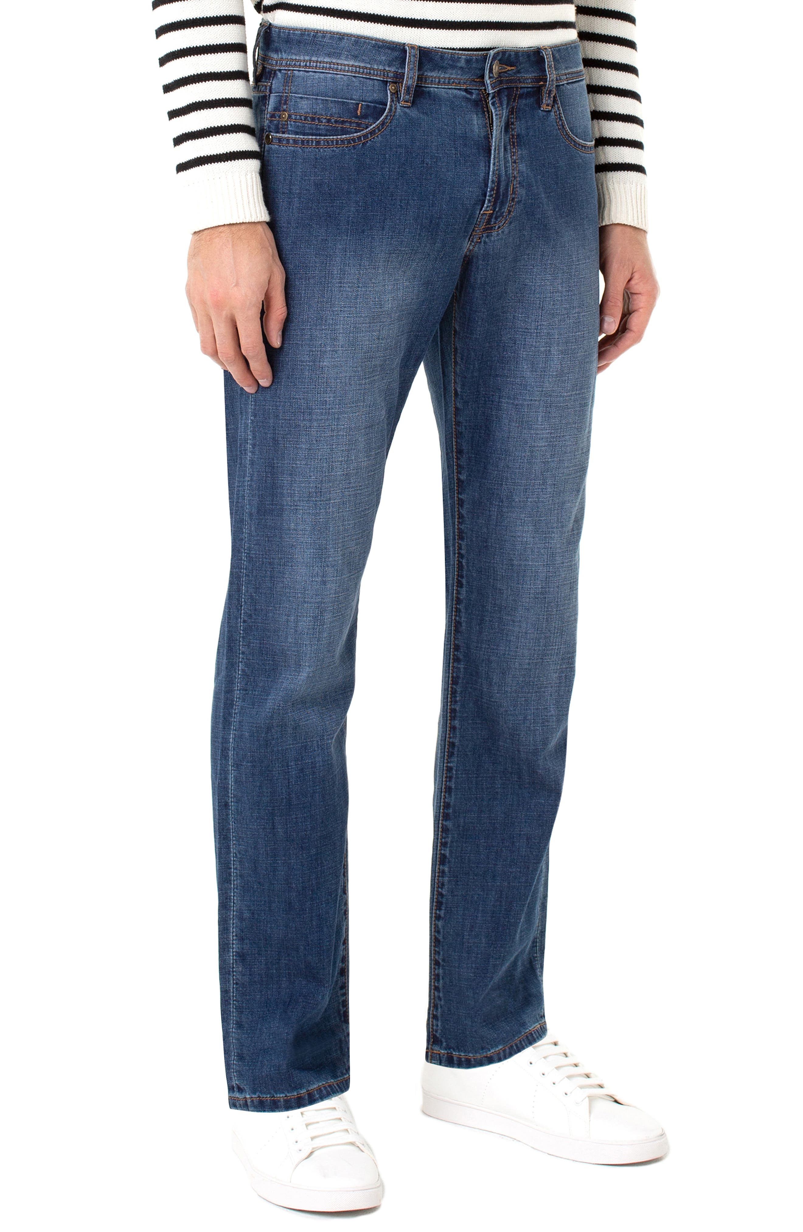 LIVERPOOL, Regent Relaxed Straight Leg Jeans, Alternate thumbnail 3, color, ANDERSON MID
