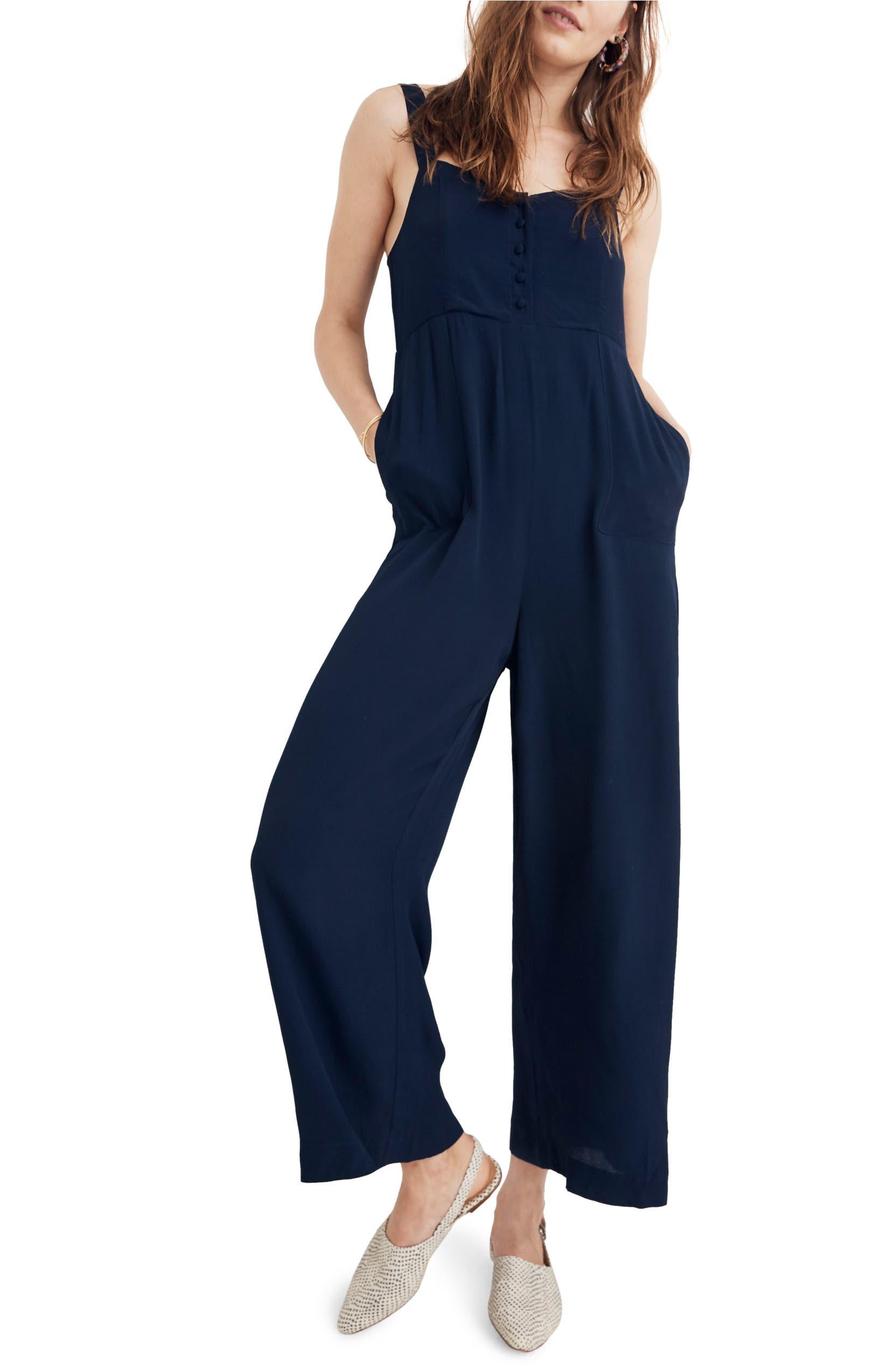 1187c4d1af Madewell Button Front Wide Leg Jumpsuit