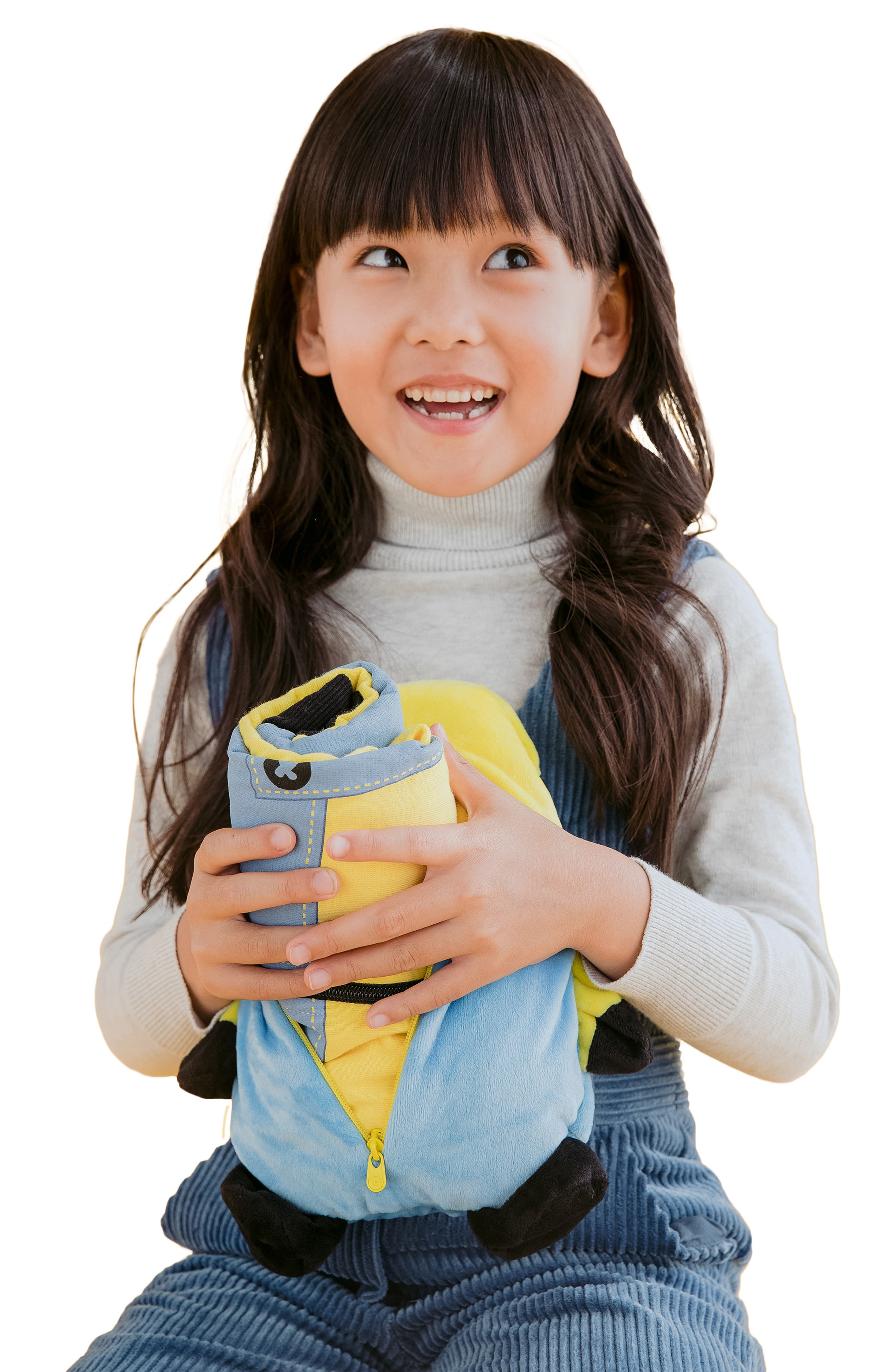 CUBCOATS, Minion Bob<sup>®</sup> 2-in-1 Stuffed Animal Hoodie, Alternate thumbnail 7, color, YELLOW / BLUE MIX