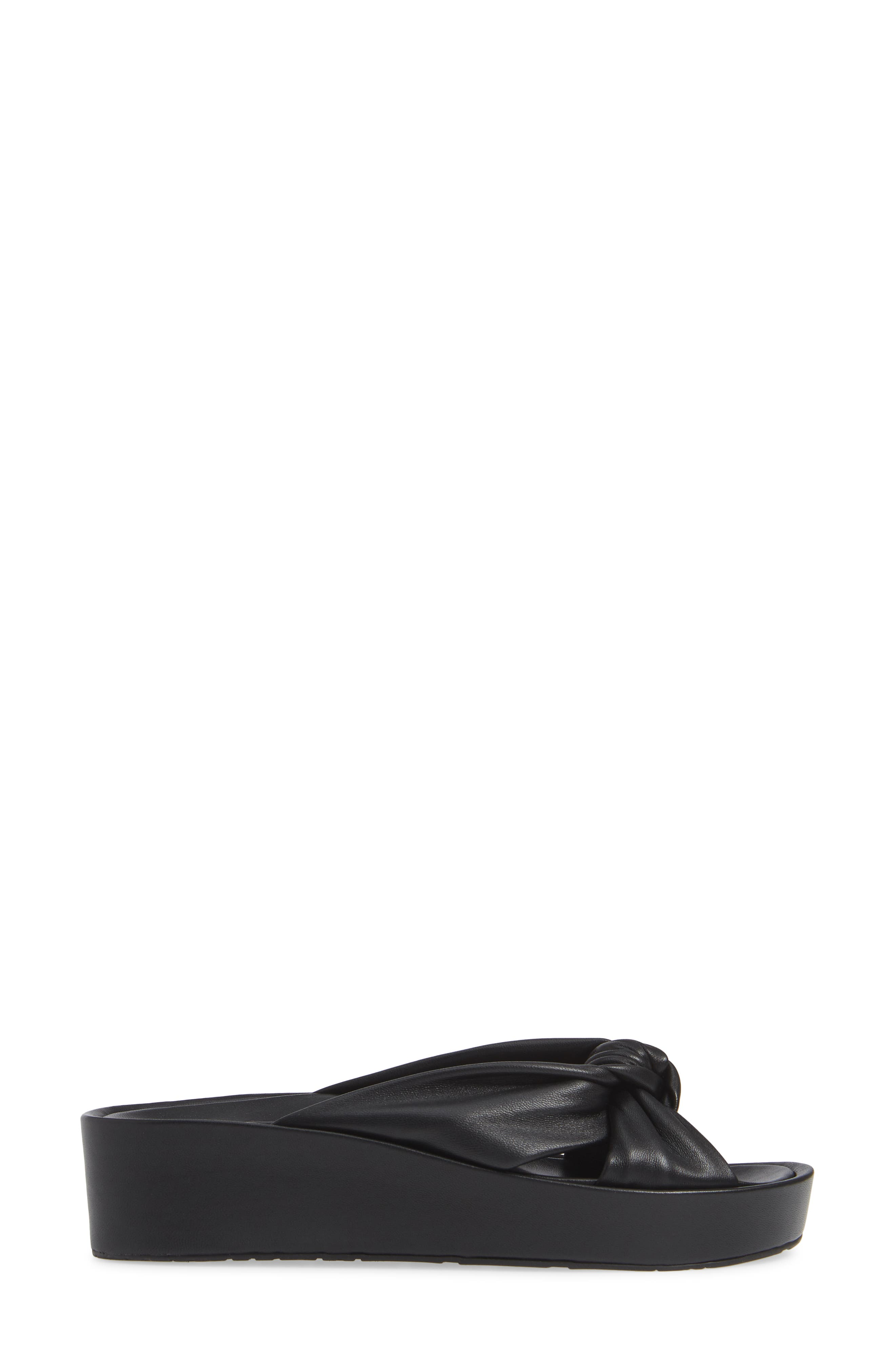 PEDRO GARCIA, Lany Platform Slide Sandal, Alternate thumbnail 3, color, BLACK LEATHER