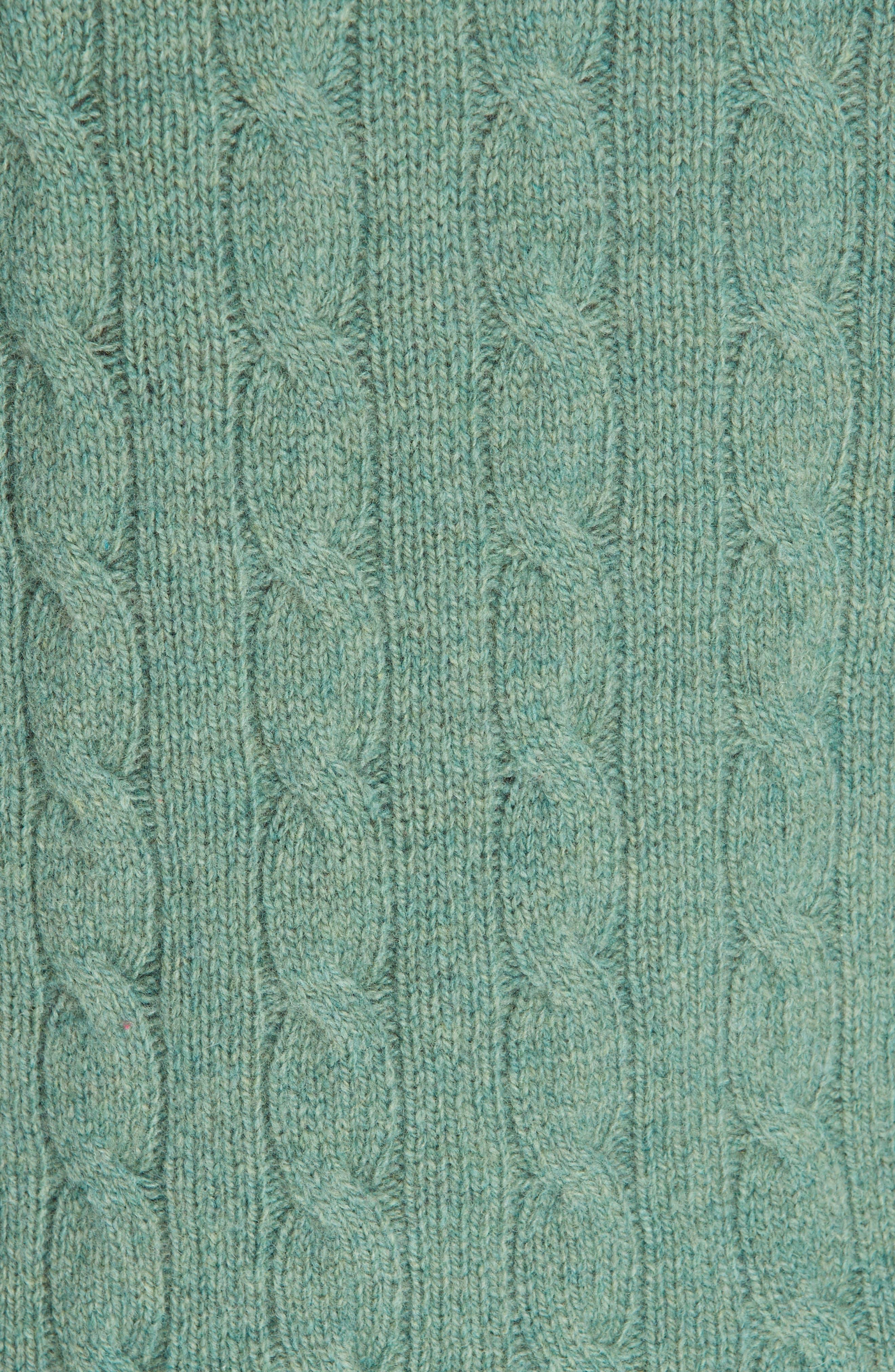 POLO RALPH LAUREN, Cable Knit Cotton Sweater, Alternate thumbnail 5, color, 300