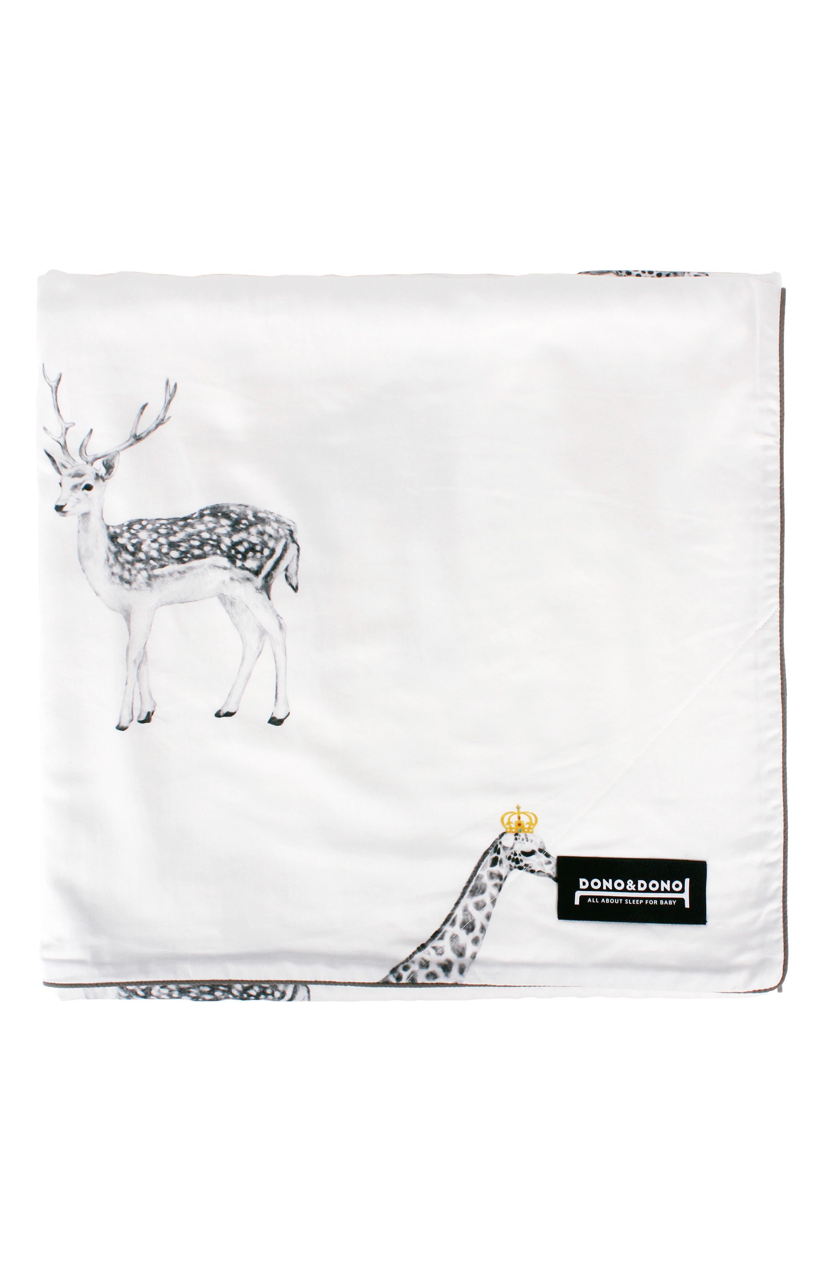 DONO & DONO, Classic All Seasons Blanket, Main thumbnail 1, color, RETRO ANIMAL