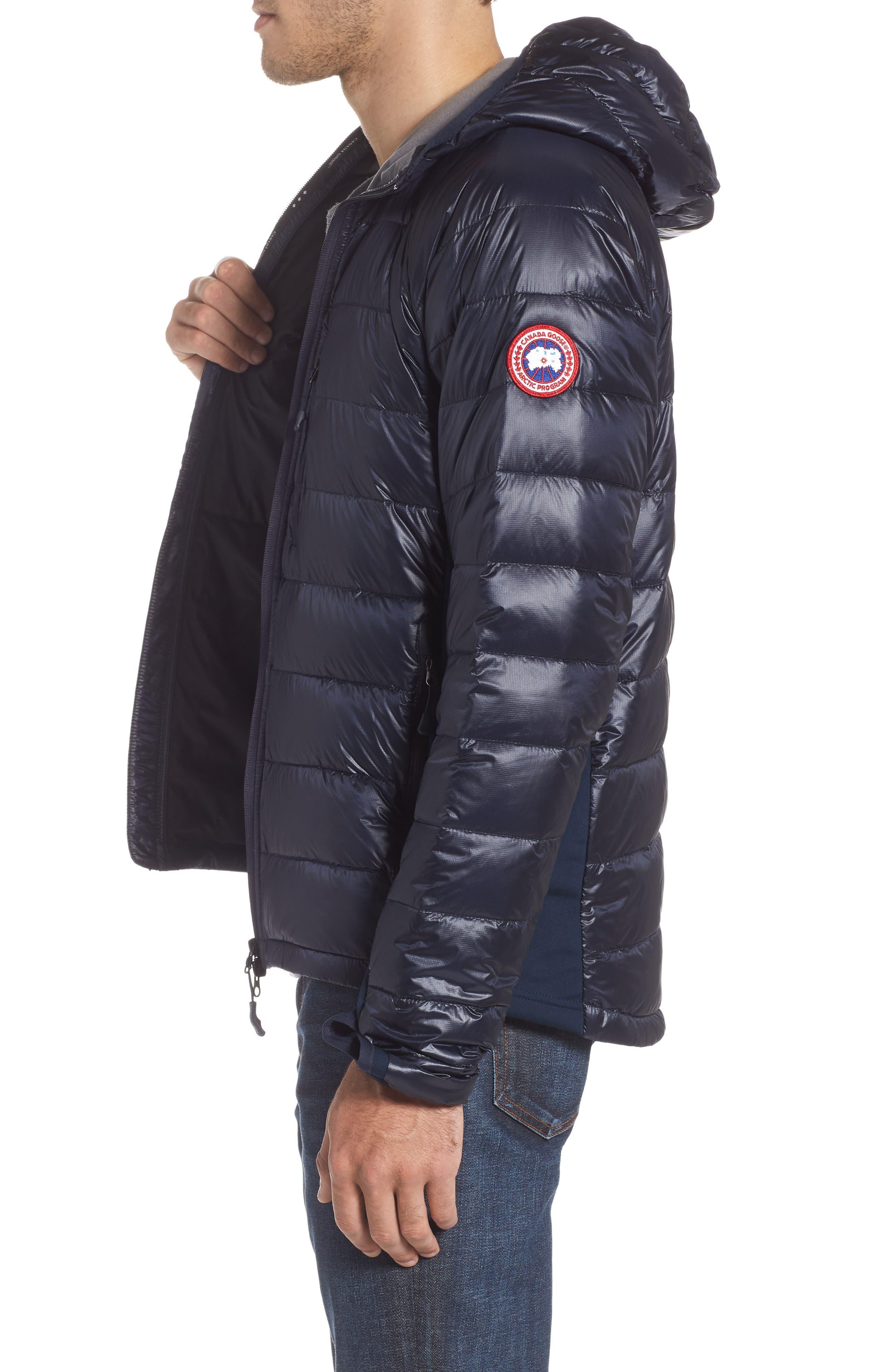 CANADA GOOSE, 'Hybridge<sup>™</sup> Lite Hoody' Slim Fit Packable Jacket, Alternate thumbnail 3, color, ADMIRAL BLUE/ BLACK