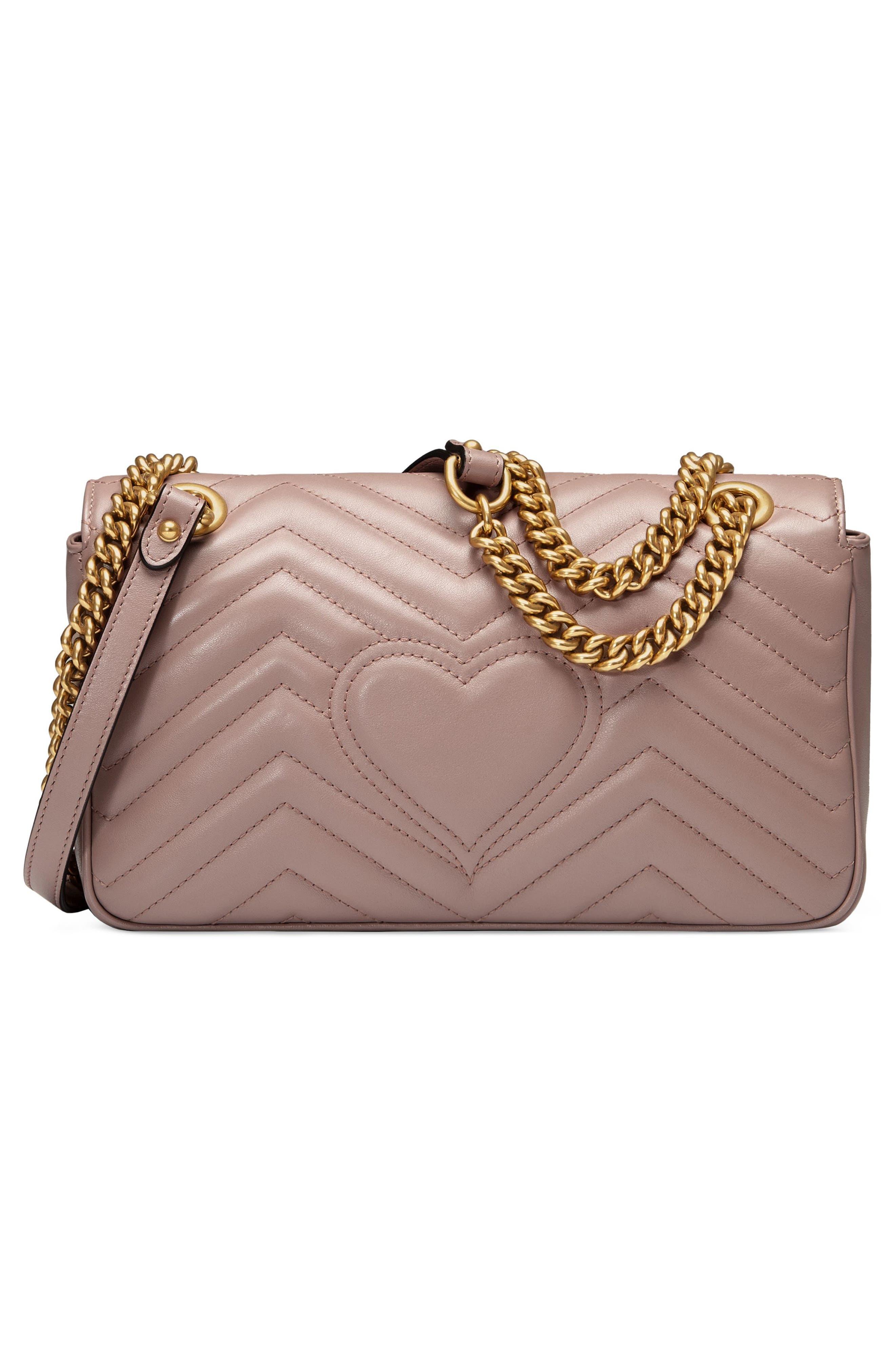 GUCCI, Small GG Marmont 2.0 Matelassé Leather Shoulder Bag, Alternate thumbnail 2, color, PORCELAIN ROSE/ PORCELAIN ROSE