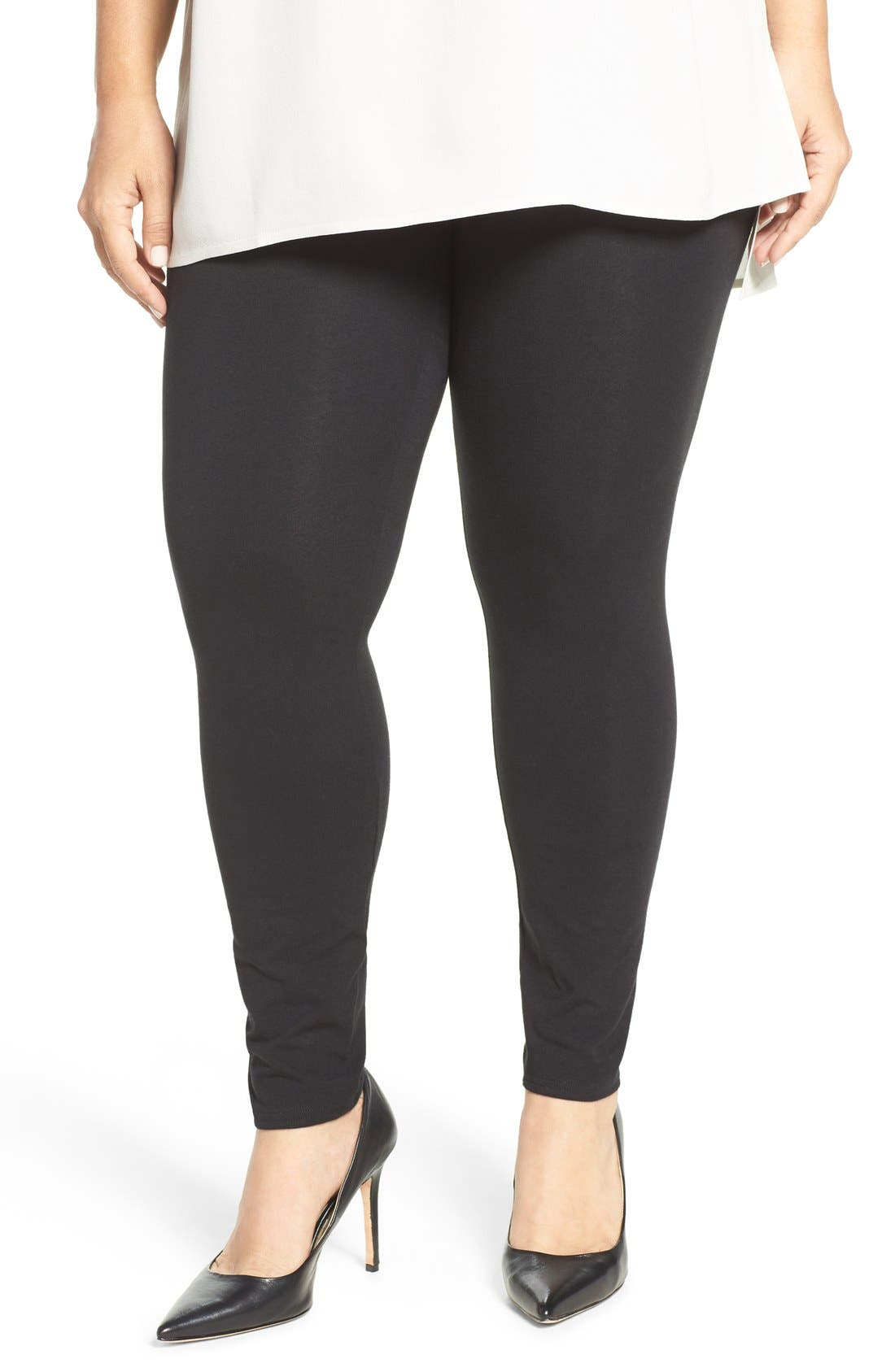 NORDSTROM Go-To Leggings, Main, color, 001