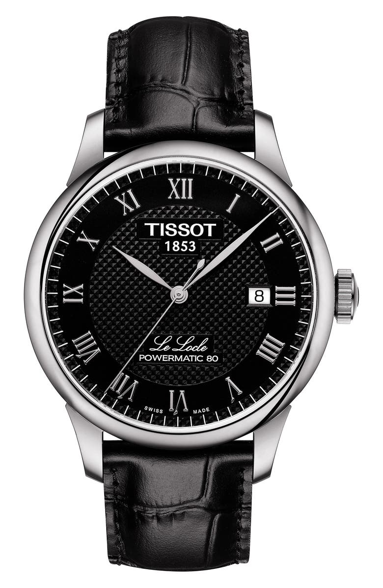 Tissot LE LOCLE POWERMATIC AUTOMATIC LEATHER STRAP WATCH, 39MM