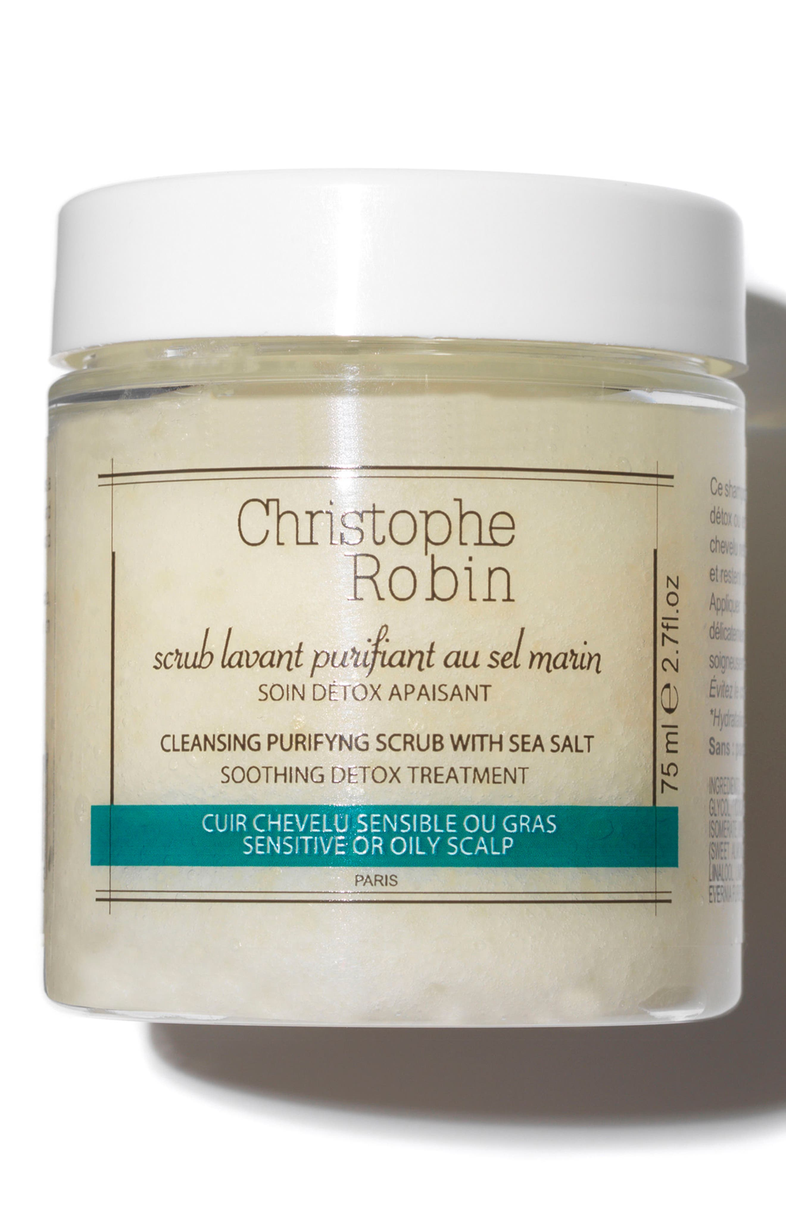 CHRISTOPHE ROBIN, SPACE.NK.apothecary Christophe Robin Cleansing Purifying Scrub with Sea Salt, Main thumbnail 1, color, NO COLOR