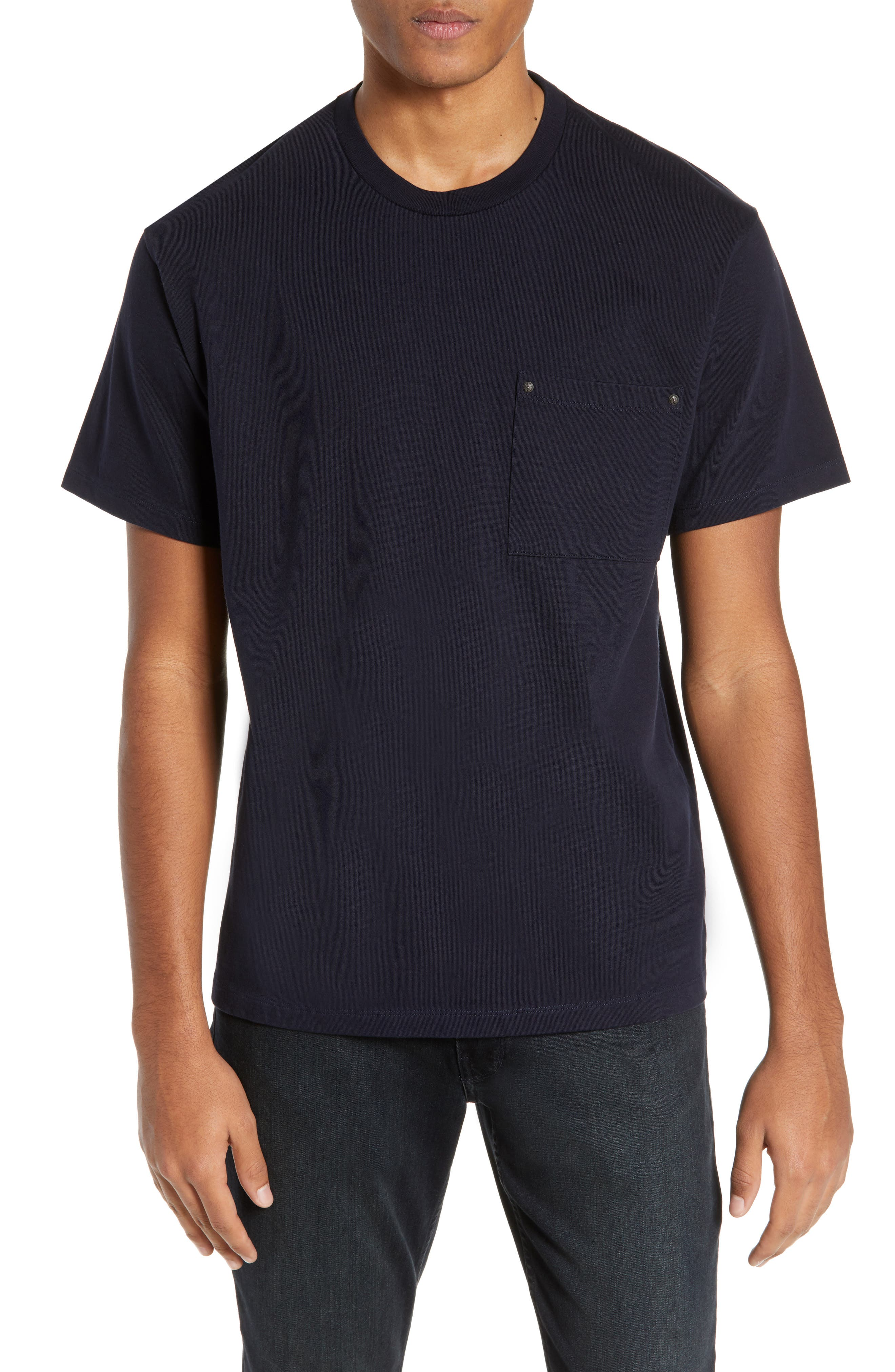 THE KOOPLES Pocket T-Shirt, Main, color, NAVY