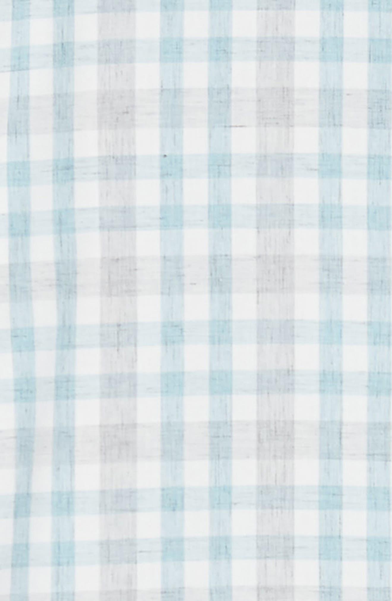 ZACHARY PRELL, Regular Fit Plaid Sport Shirt, Alternate thumbnail 6, color, LIGHT BLUE